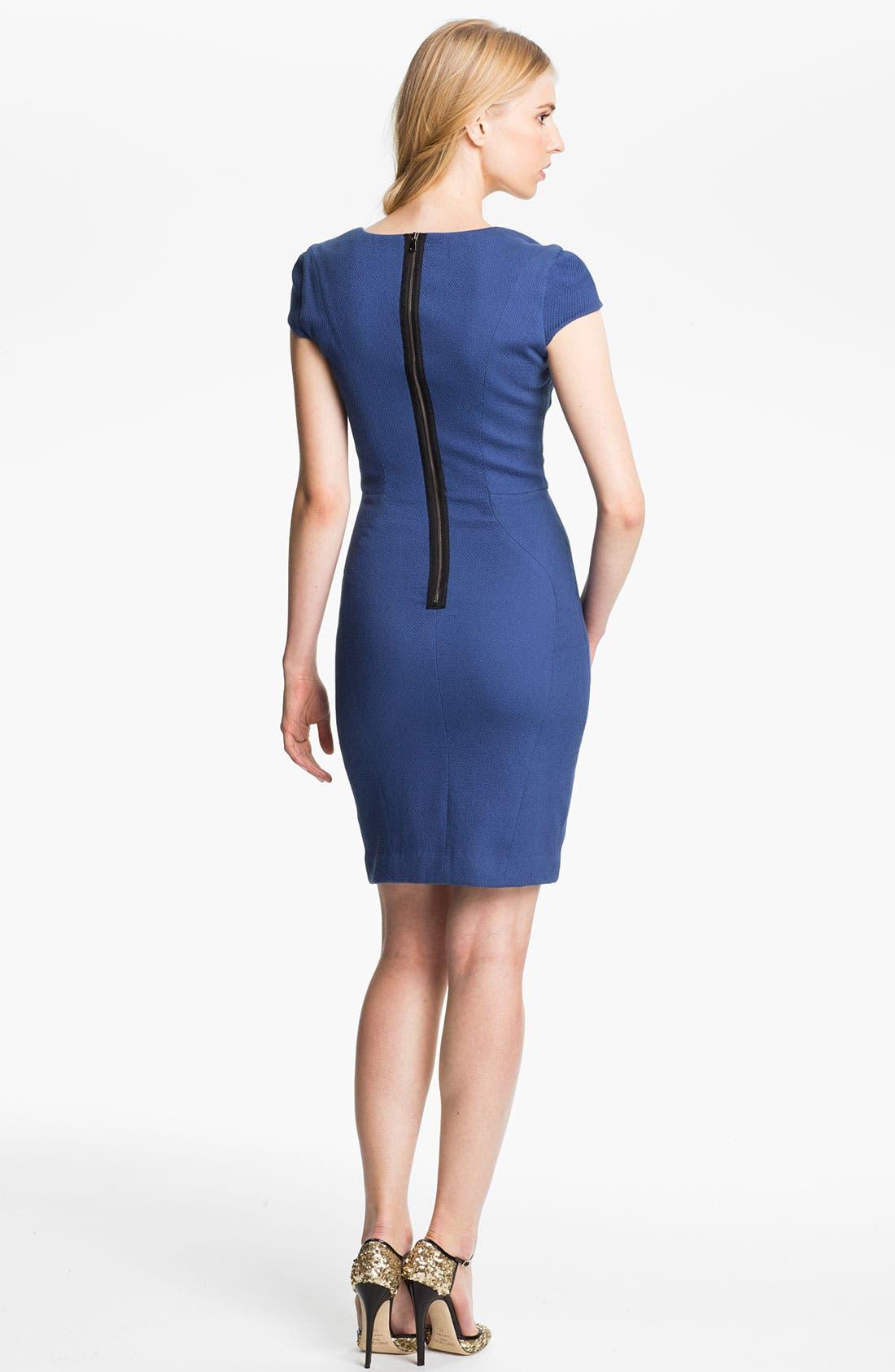 Alternate Image 2  - L'AGENCE Cap Sleeve Sheath Dress