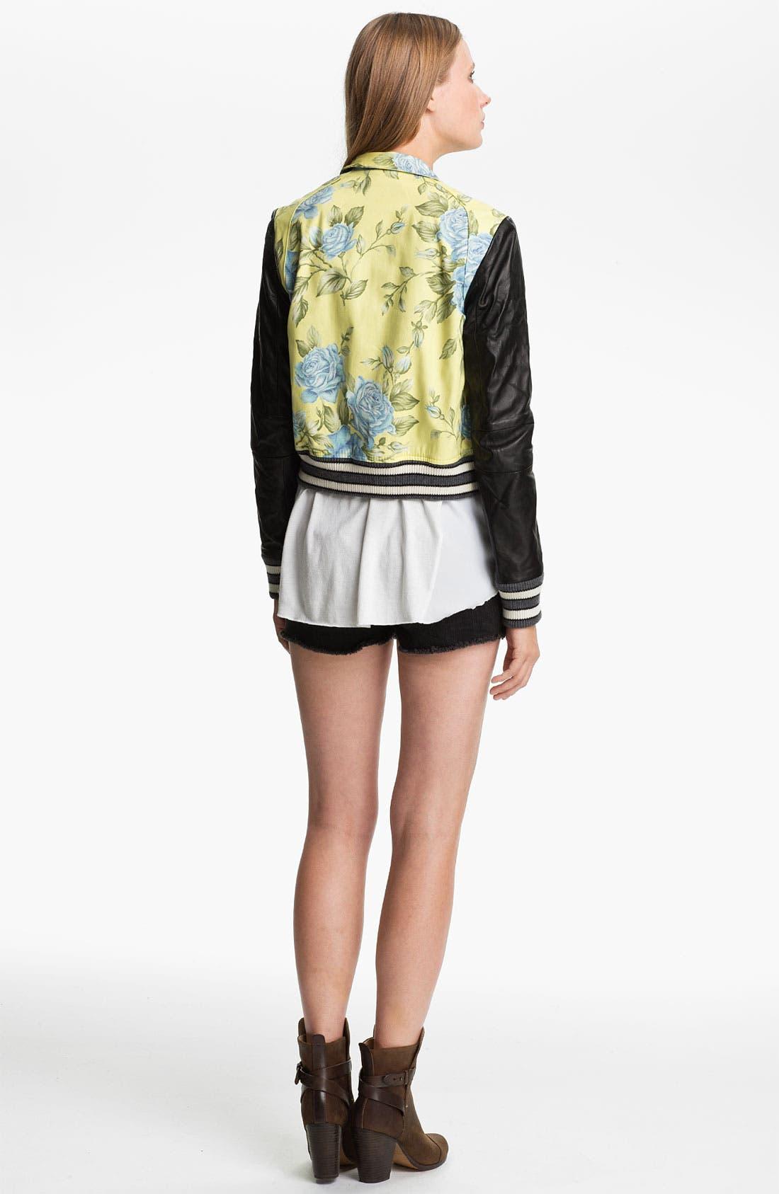 Alternate Image 2  - rag & bone 'Cambridge' Floral Print Jacket