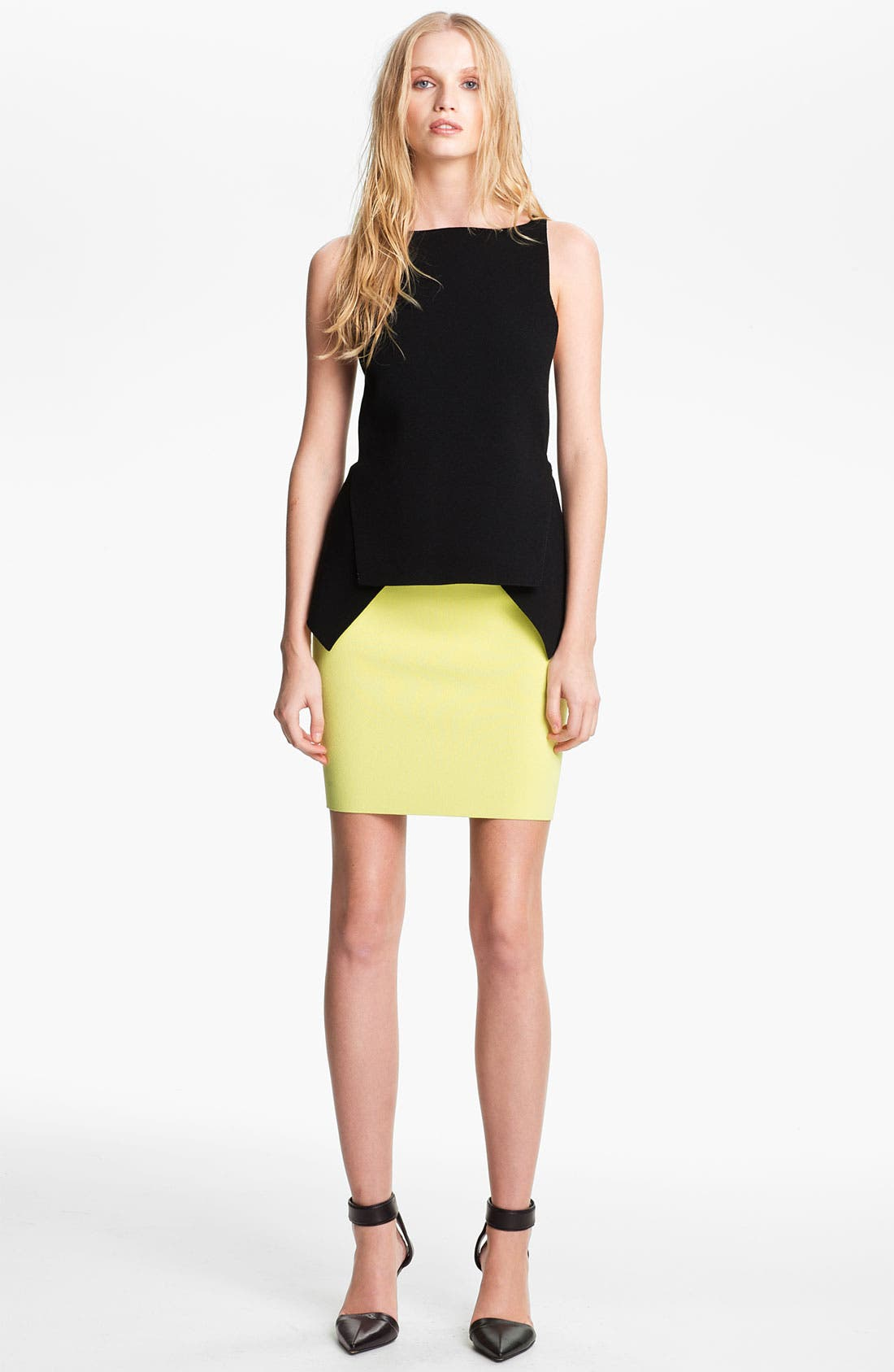 Alternate Image 1 Selected - Alexander Wang Double Face Peplum Top