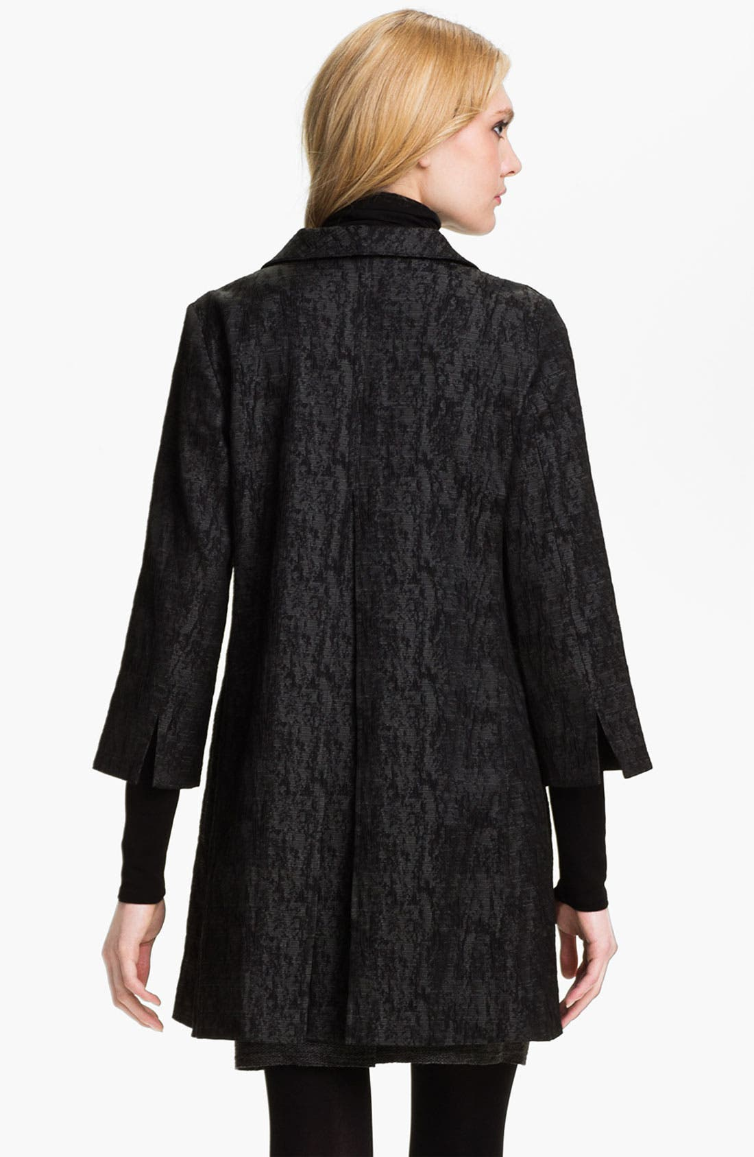 Alternate Image 2  - Eileen Fisher Jacquard Coat (Online Exclusive)