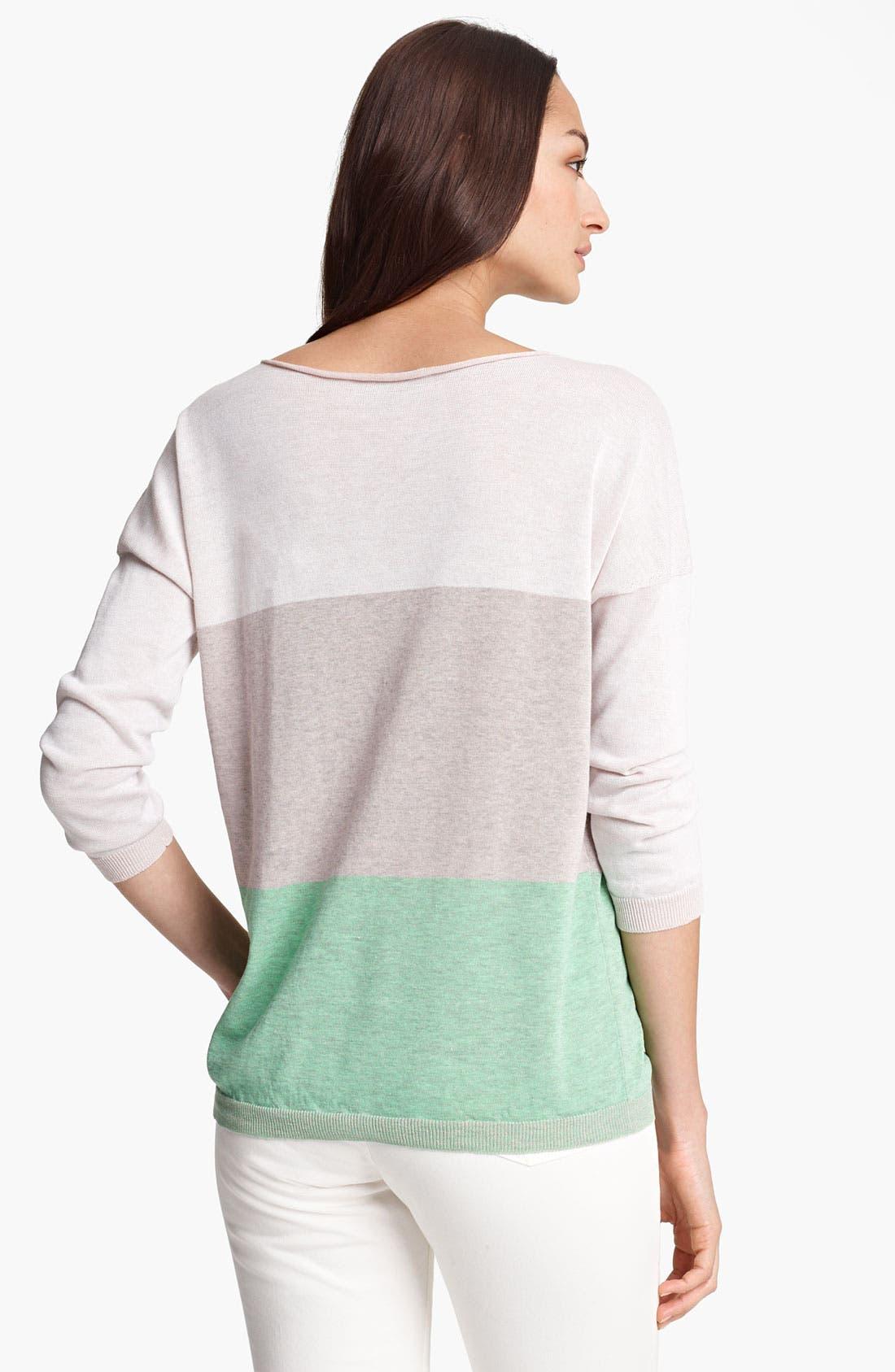 Alternate Image 2  - Fabiana Filippi Stripe Long Sleeve Knit Top