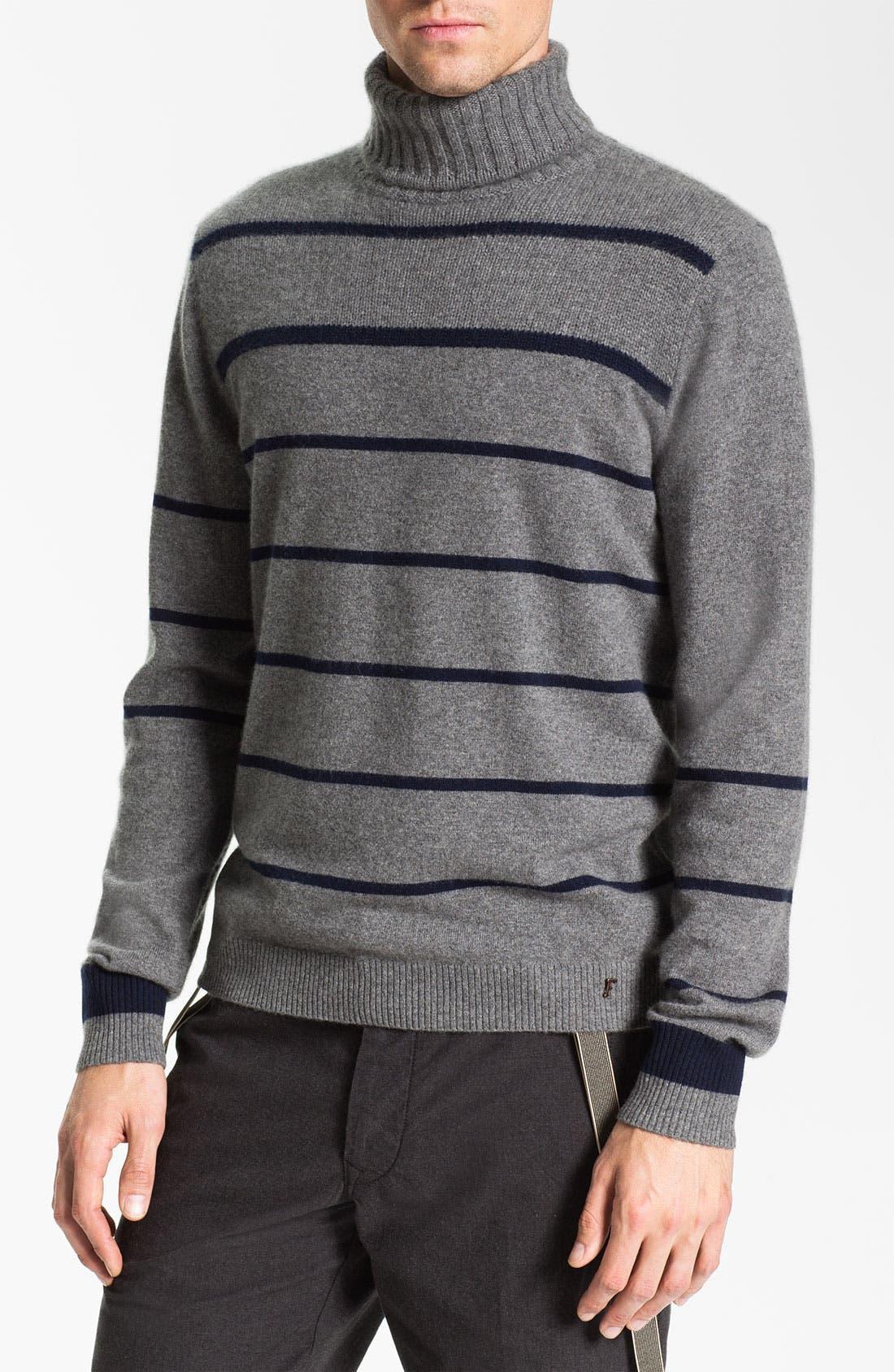 Alternate Image 1 Selected - Façonnable Cashmere Turtleneck Sweater