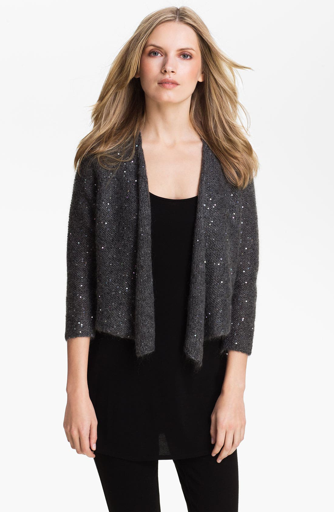 Alternate Image 1 Selected - Eileen Fisher Sequin Mohair Blend Cardigan (Online Exclusive)