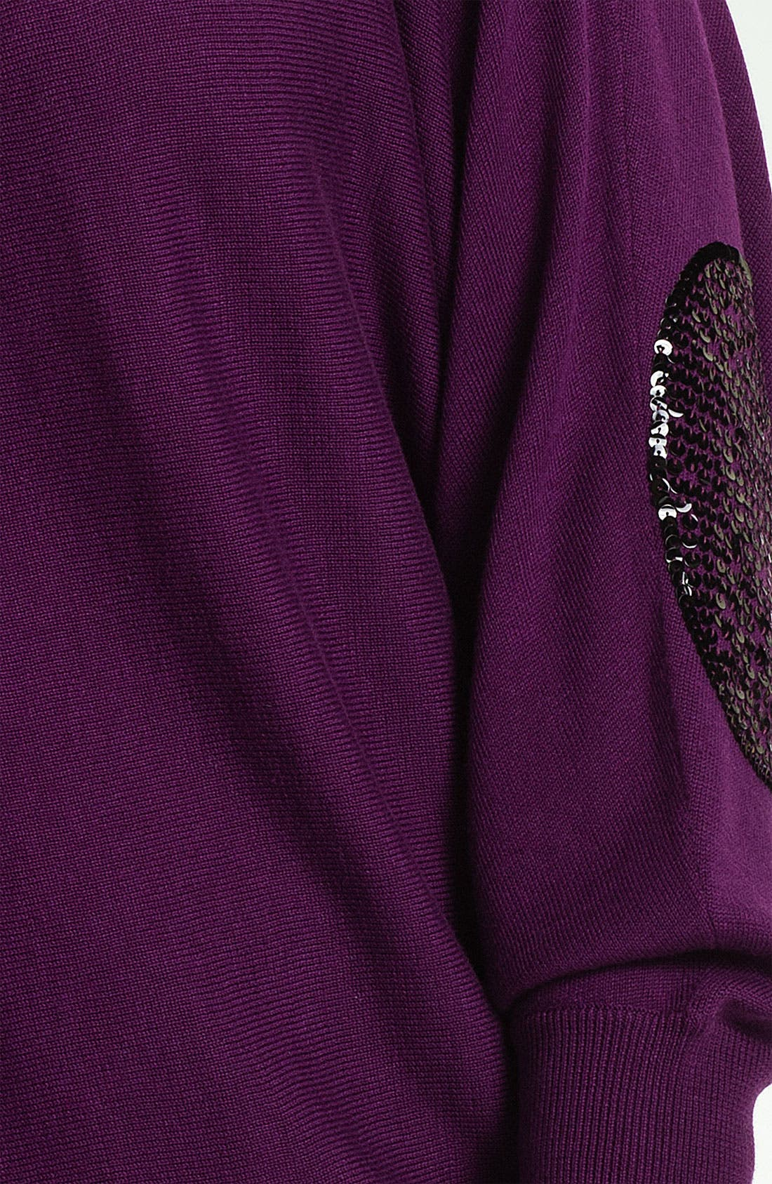 Alternate Image 3  - Vince Camuto Sequin Elbow Patch Sweater (Plus)