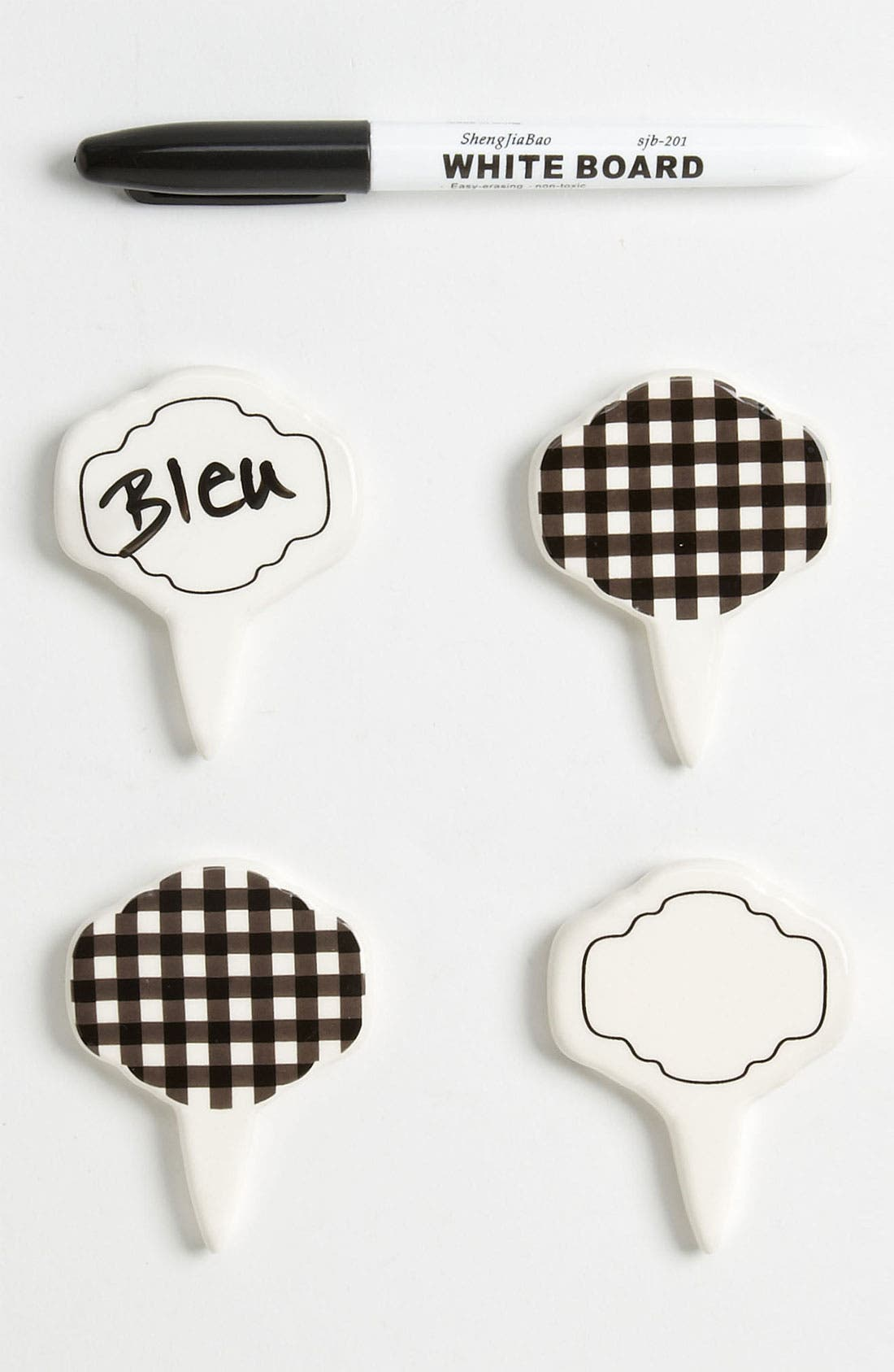 Main Image - Magenta 'Café Toile' Cheese Markers (Set of 4)