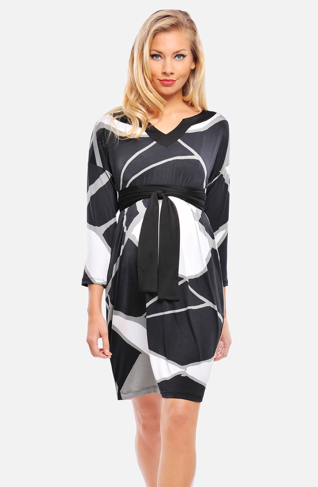 Main Image - Olian 'Michelle' A-Line Maternity Dress