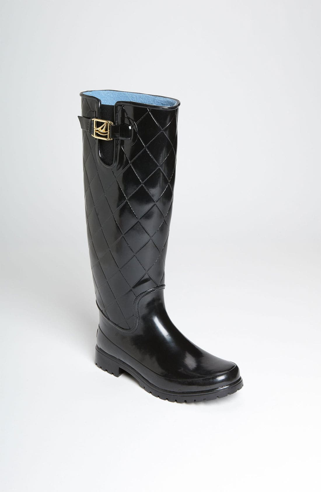 Top-Sider<sup>®</sup> 'Pelican Too' Rain Boot,                             Main thumbnail 1, color,                             Black Quilted
