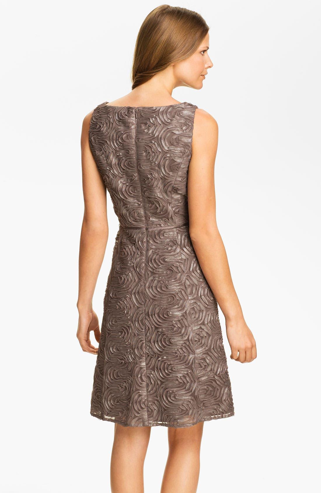 Alternate Image 2  - Adrianna Papell Metallic Soutache A-Line Dress