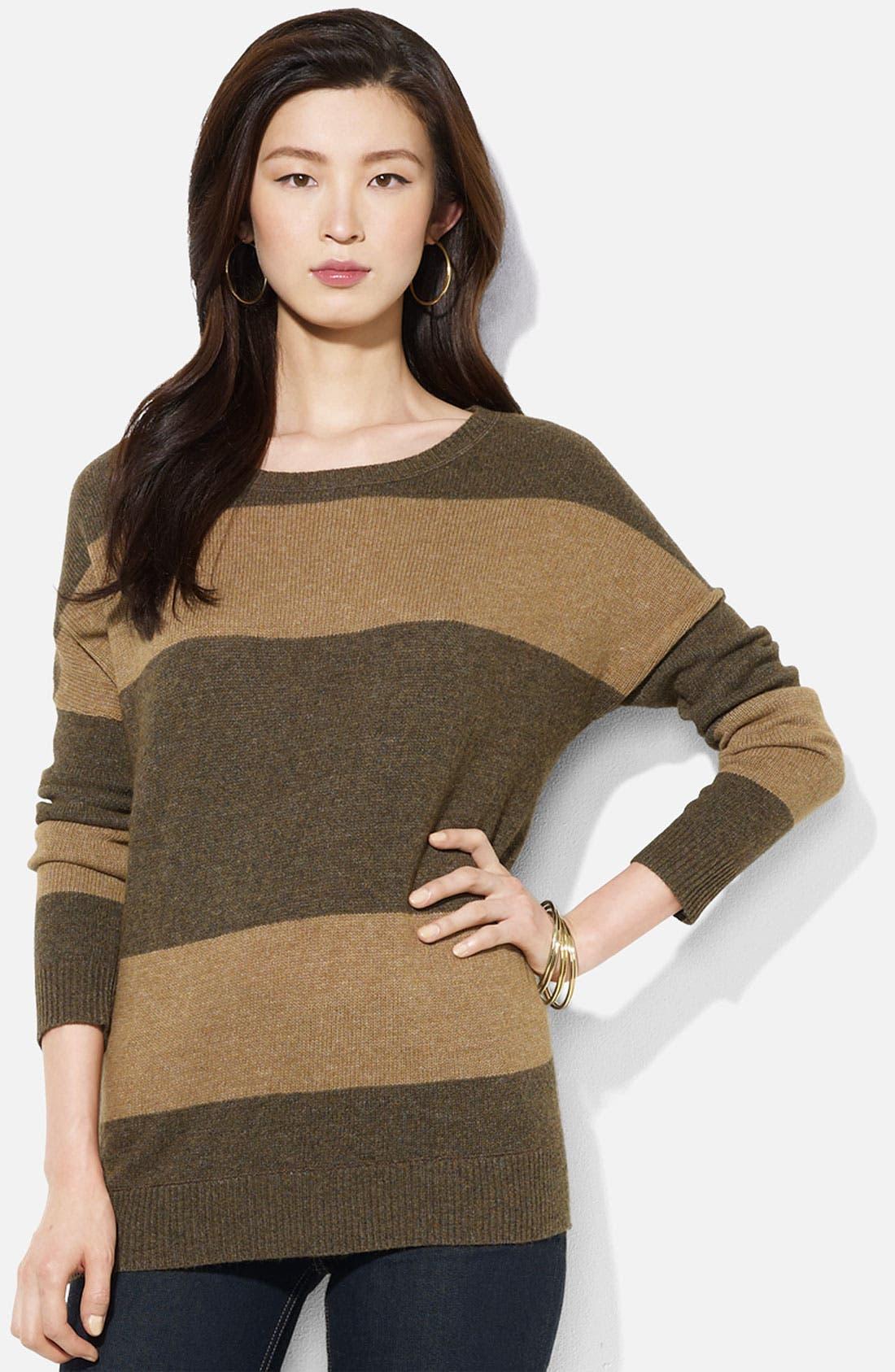Alternate Image 1 Selected - Lauren Ralph Lauren Ballet Neck Stripe Sweater