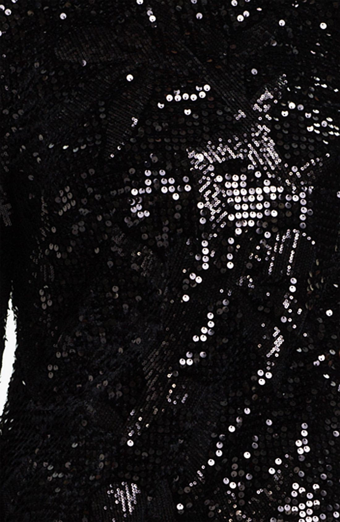 Alternate Image 3  - Aidan Mattox Long Sleeve Sequin Velvet Dress (Plus)