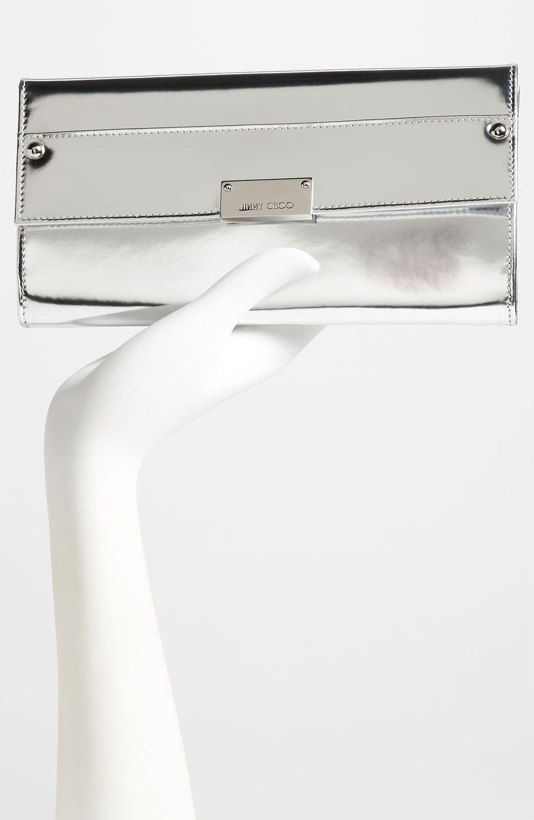 Alternate Image 2  - Jimmy Choo 'Reese' Metallic Leather Clutch