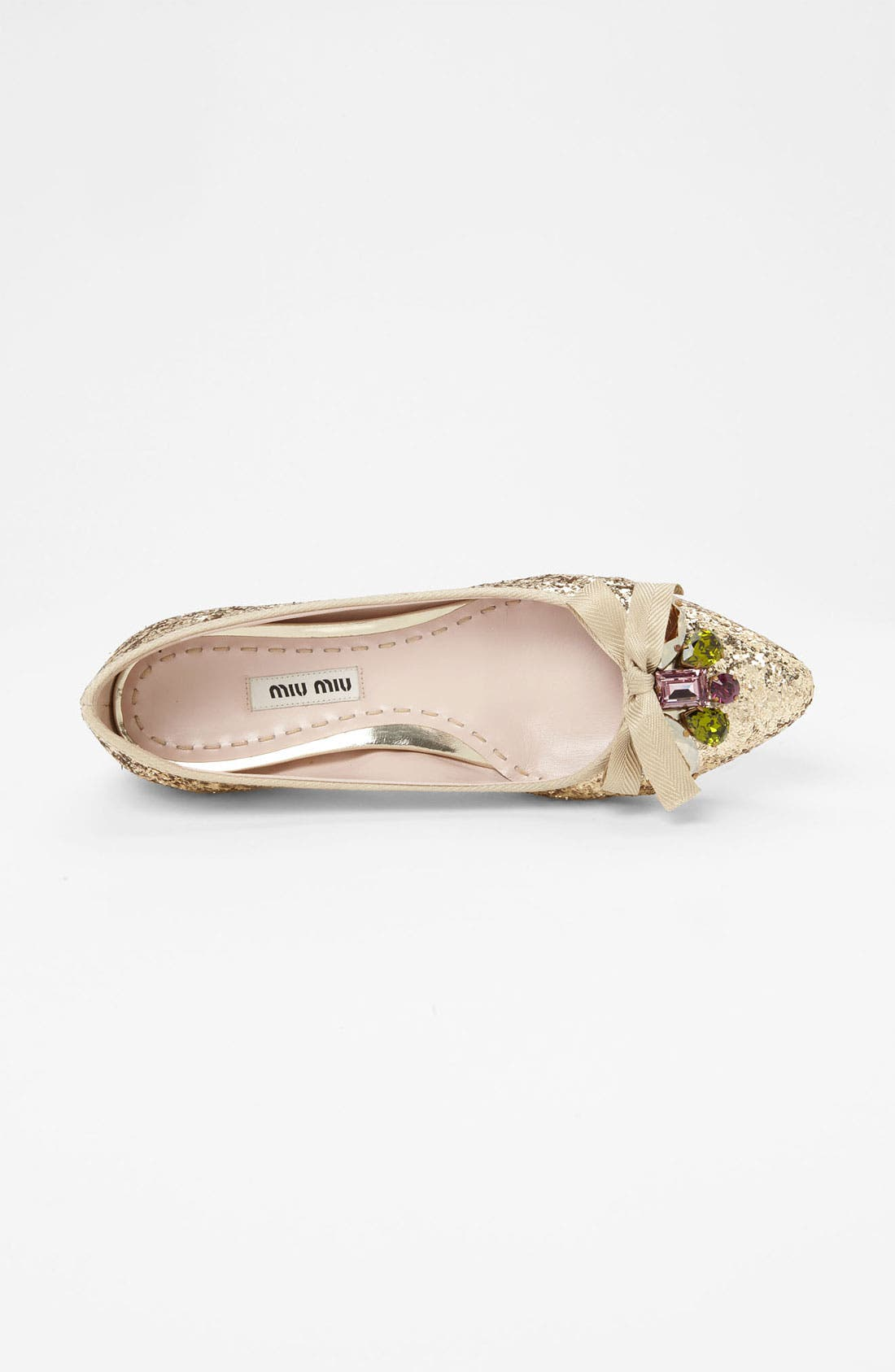 Alternate Image 3  - Miu Miu Jeweled Pointy Toe Flat