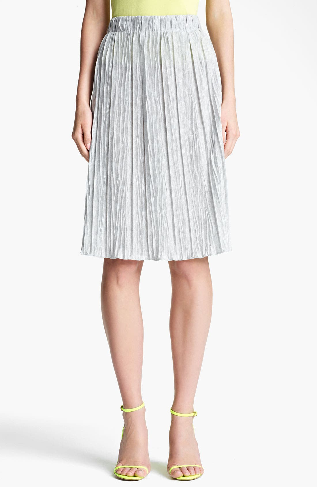 Main Image - Lida Baday Plissé Stretch Jersey Skirt