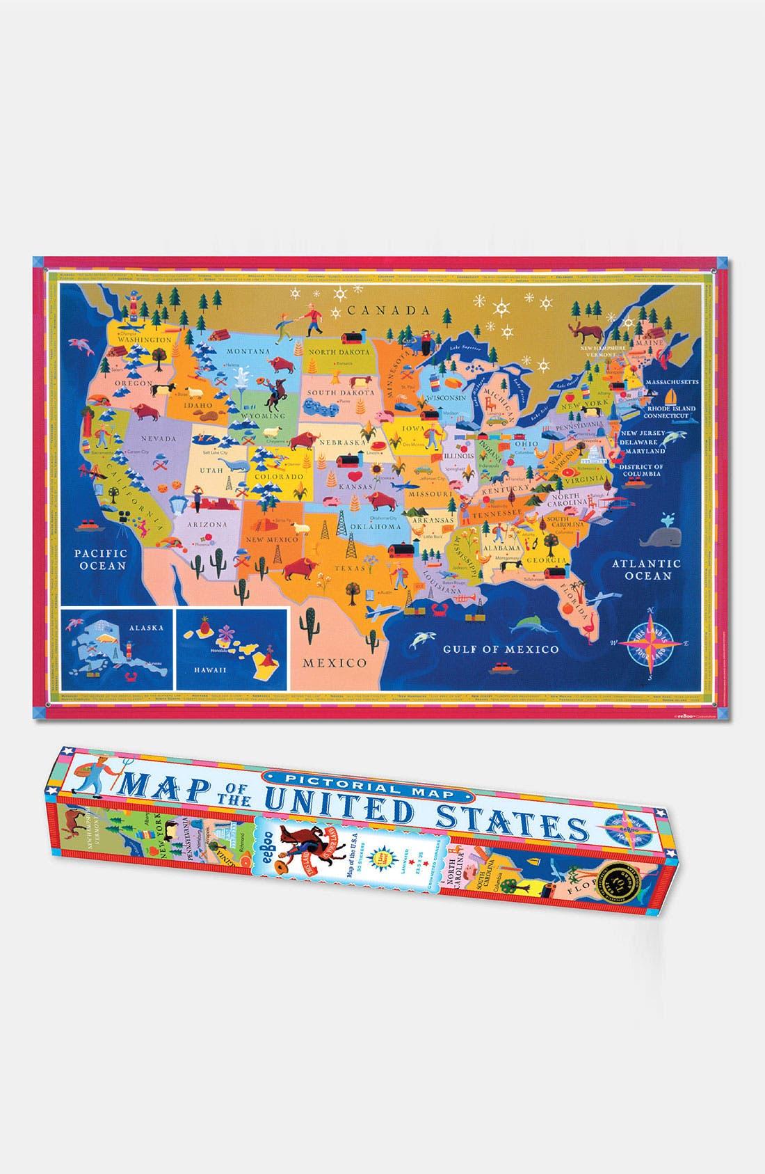 Alternate Image 1 Selected - eeBoo U.S. Map