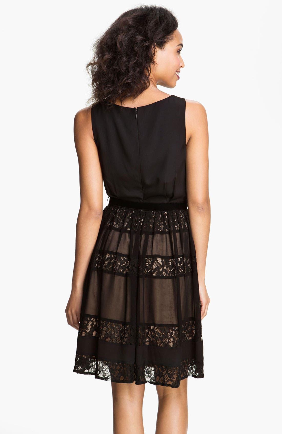 Alternate Image 2  - Jessica Simpson Lace Inset Fit & Flare Dress