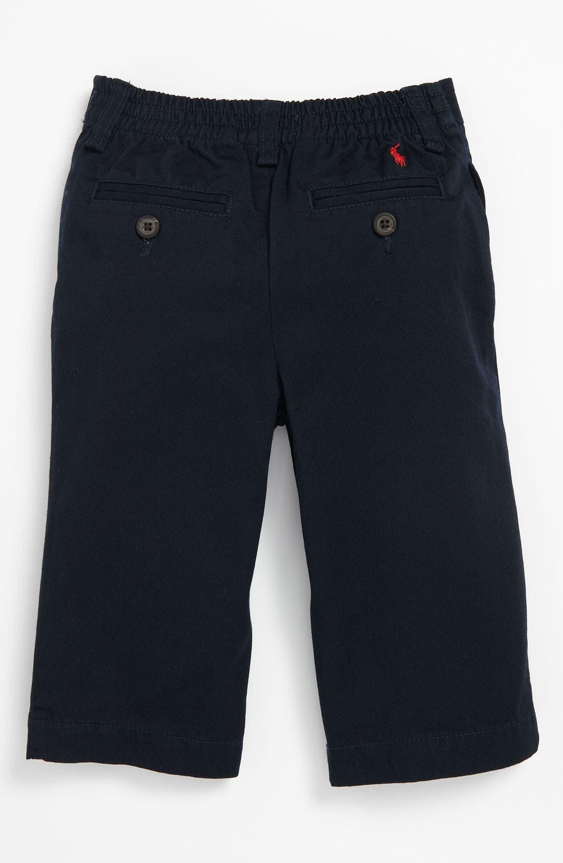 Alternate Image 2  - Ralph Lauren Flat Front Pants (Baby)