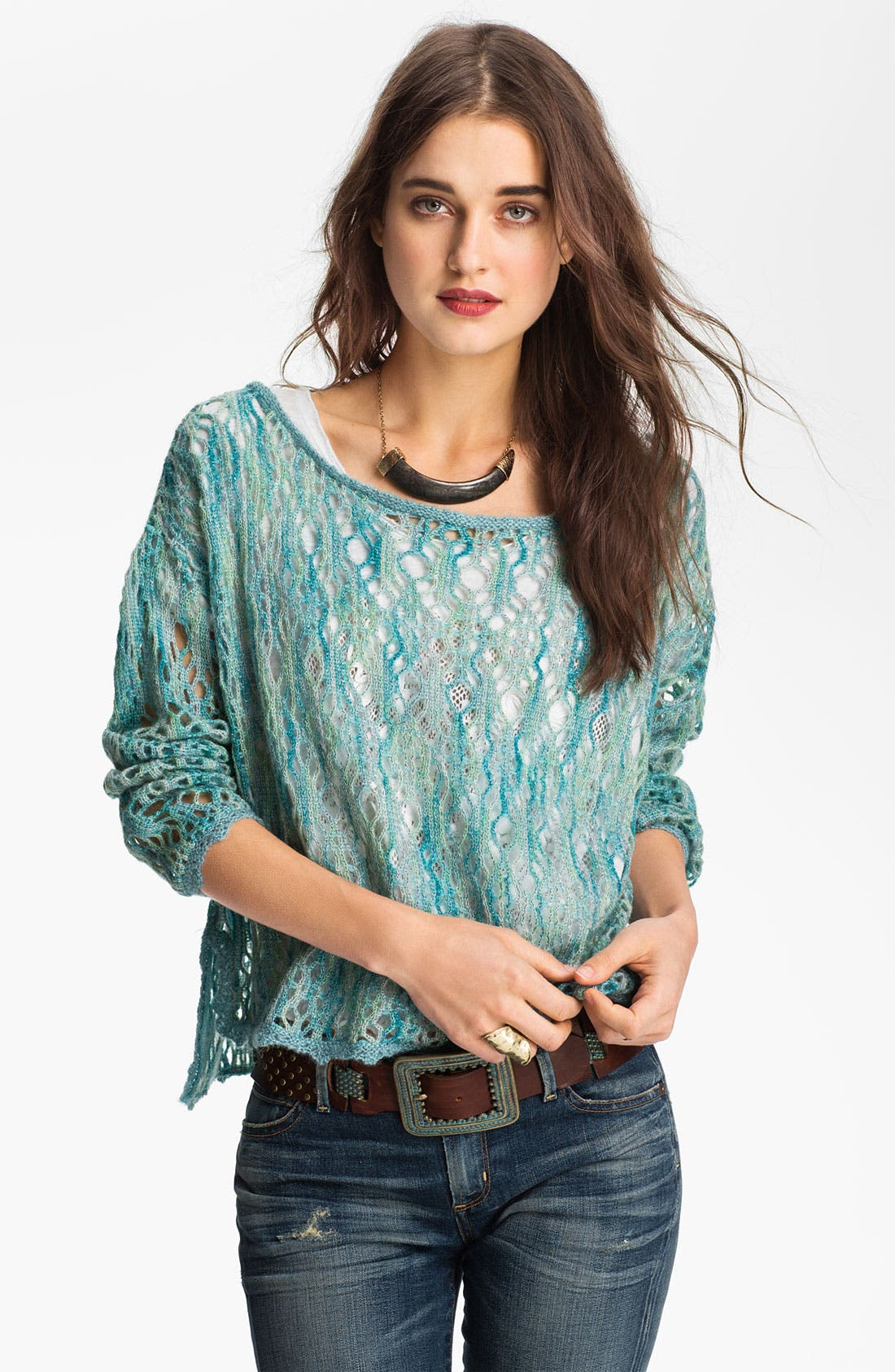 Main Image - Free People Crochet Top