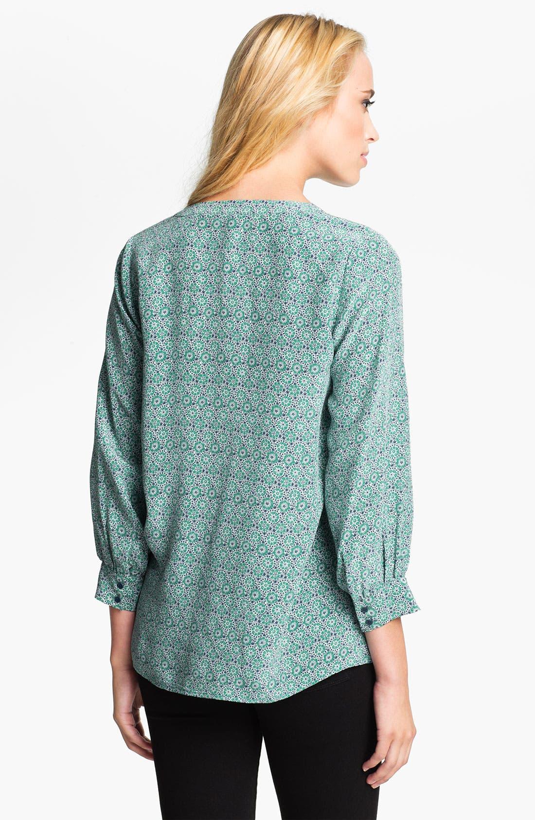 Alternate Image 2  - Joie 'Aceline' Sheer Print Silk V-Neck Top