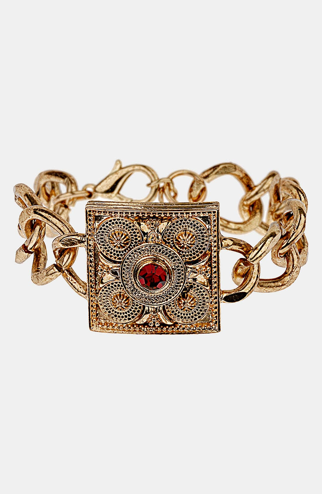 Main Image - Topshop Chunky Chain Plaque Bracelet