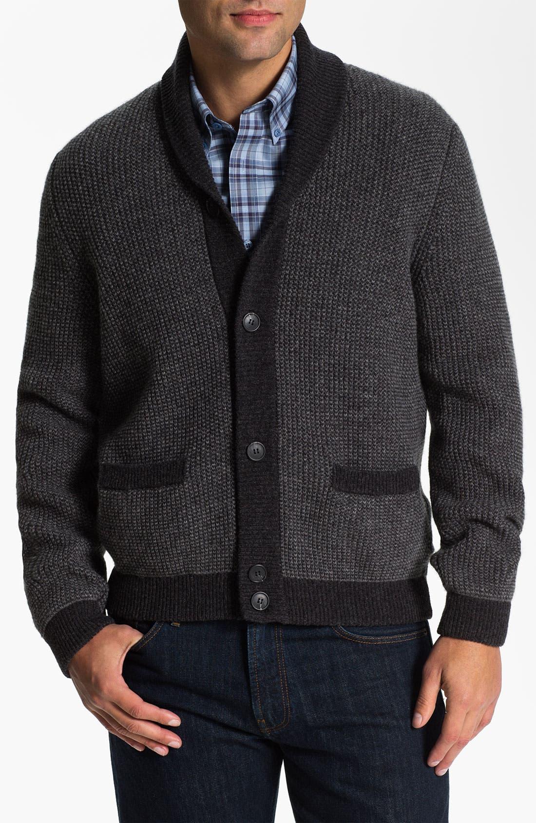 Alternate Image 1 Selected - Lora Gi Shawl Collar Wool Cardigan
