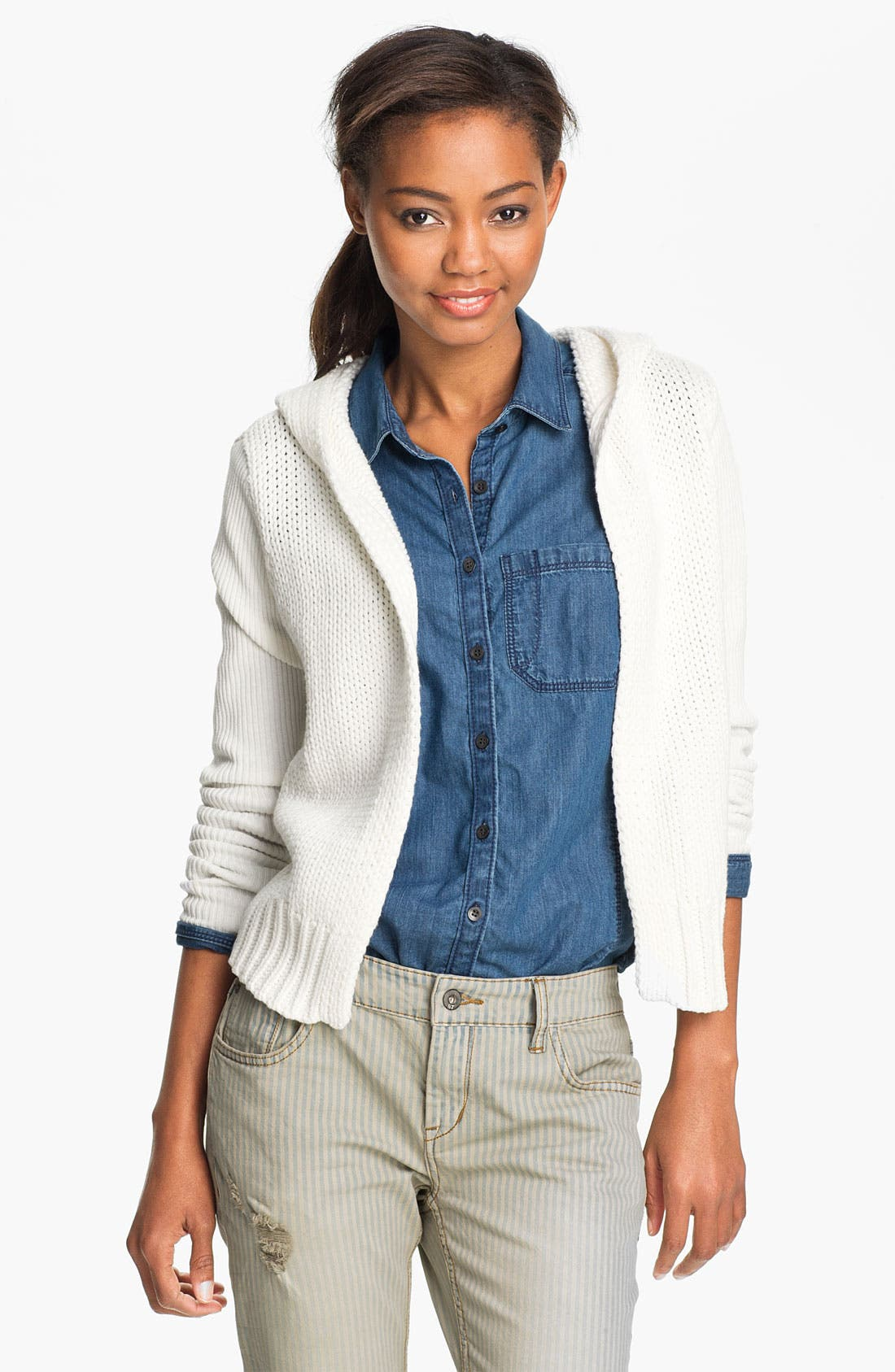 Main Image - Two by Vince Camuto Hooded Cardigan