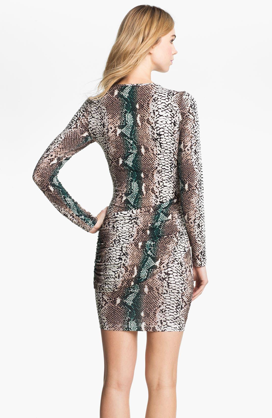 Alternate Image 2  - Tart Snakeskin Print Surplice Sheath Dress