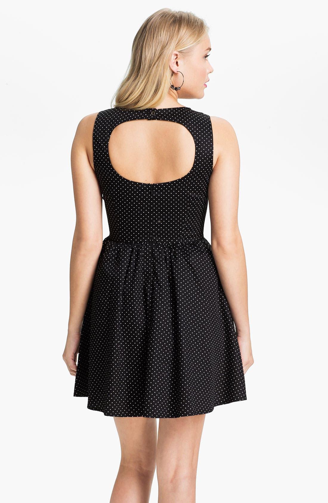 Alternate Image 2  - Mimi Chica Print Sleeveless Dress (Juniors)
