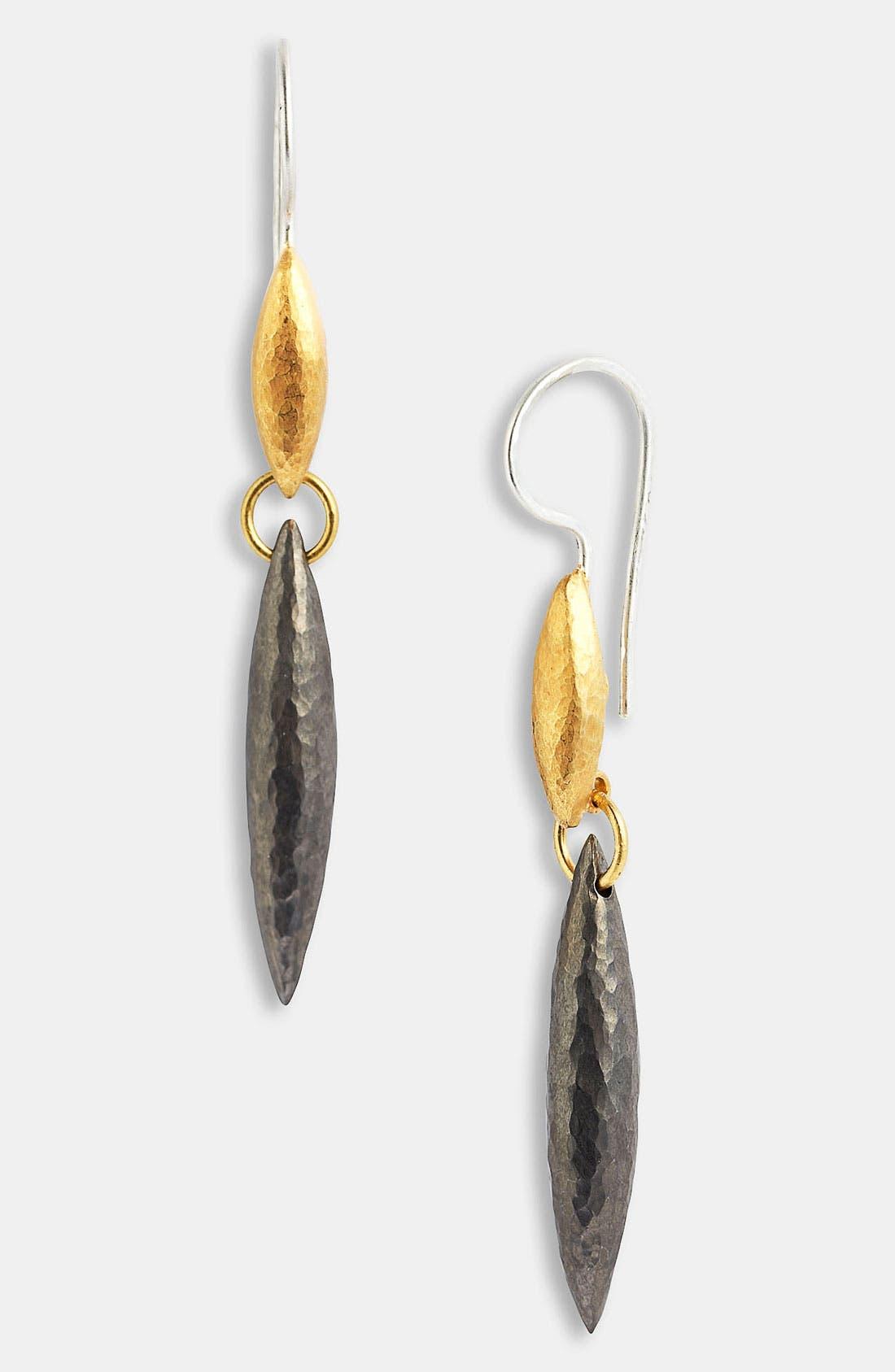 Alternate Image 1 Selected - Gurhan 'Wheat' Gold & Blackened Silver Earrings