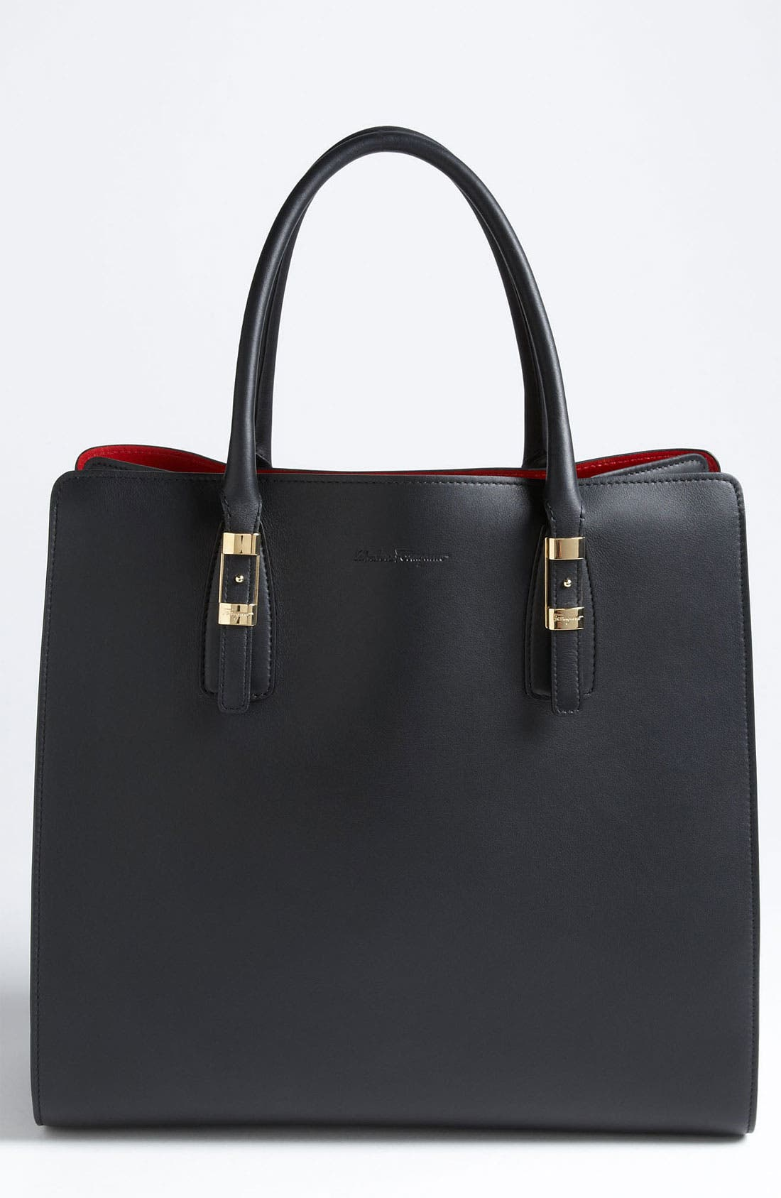 Alternate Image 1 Selected - Salvatore Ferragamo 'Whitney - Small' Leather Satchel