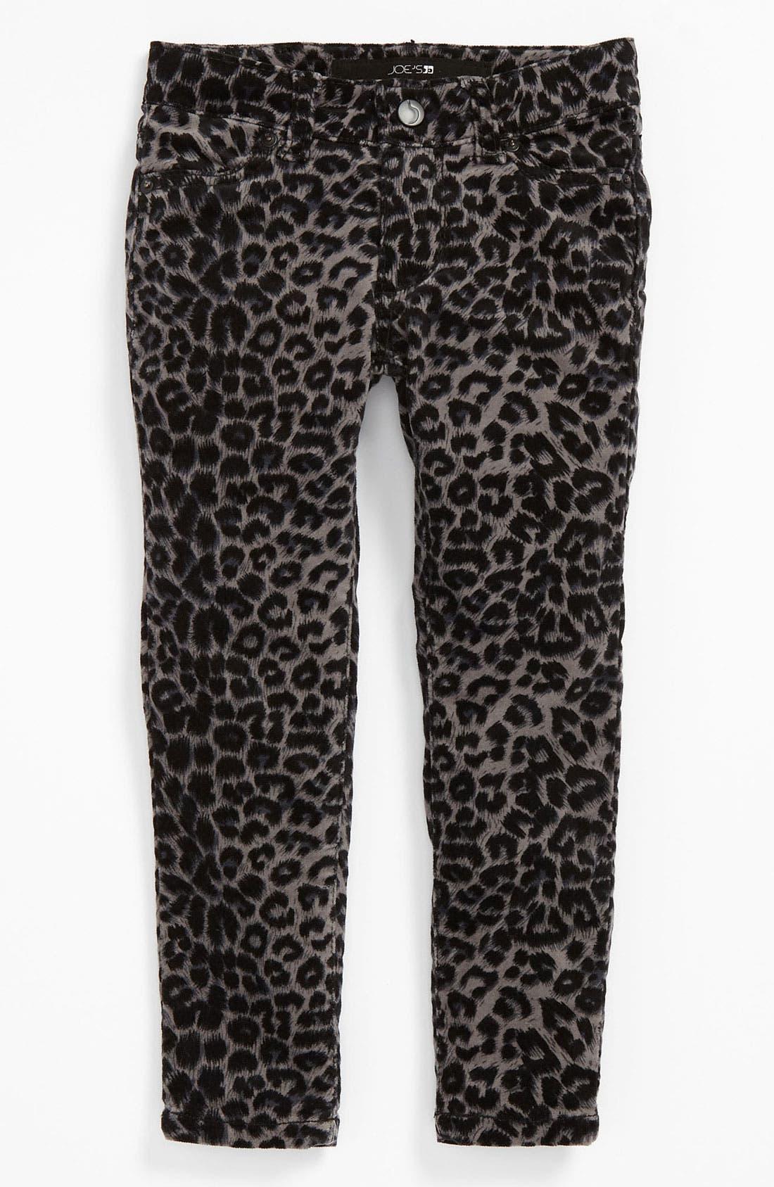 Alternate Image 2  - Joe's Stretch Skinny Animal Print Velvet Denim Pants (Toddler)