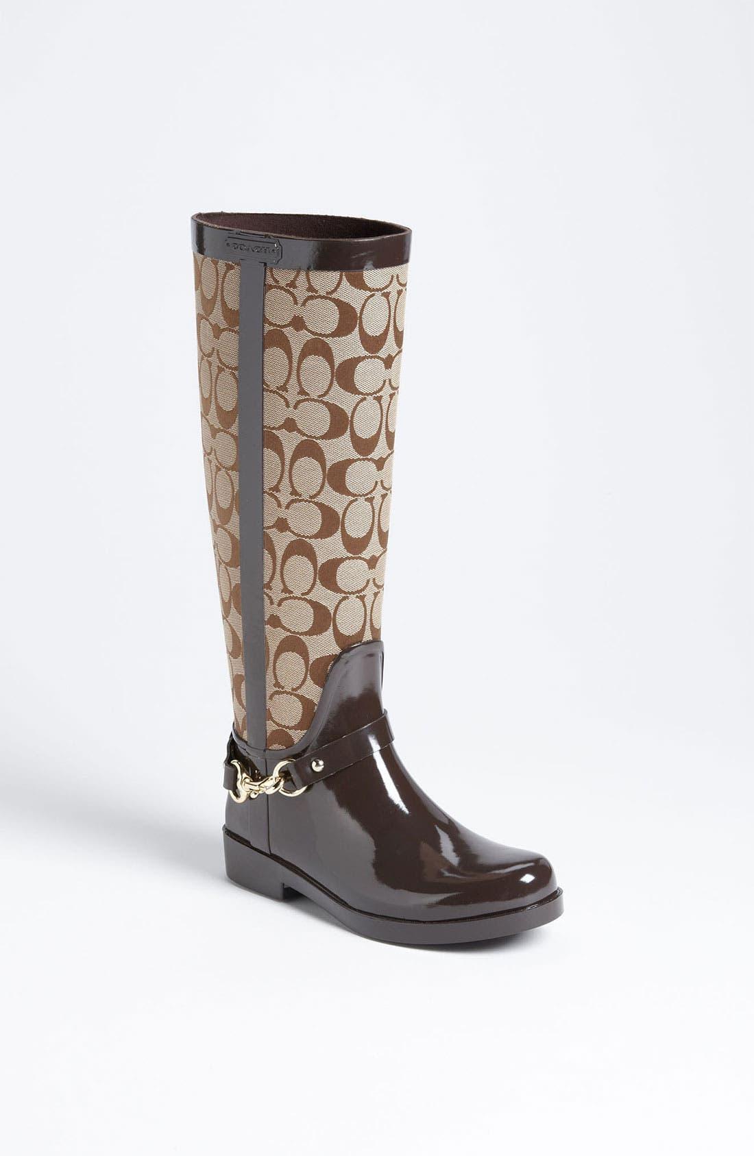Alternate Image 1 Selected - COACH 'Lux' Rain Boot (Women)