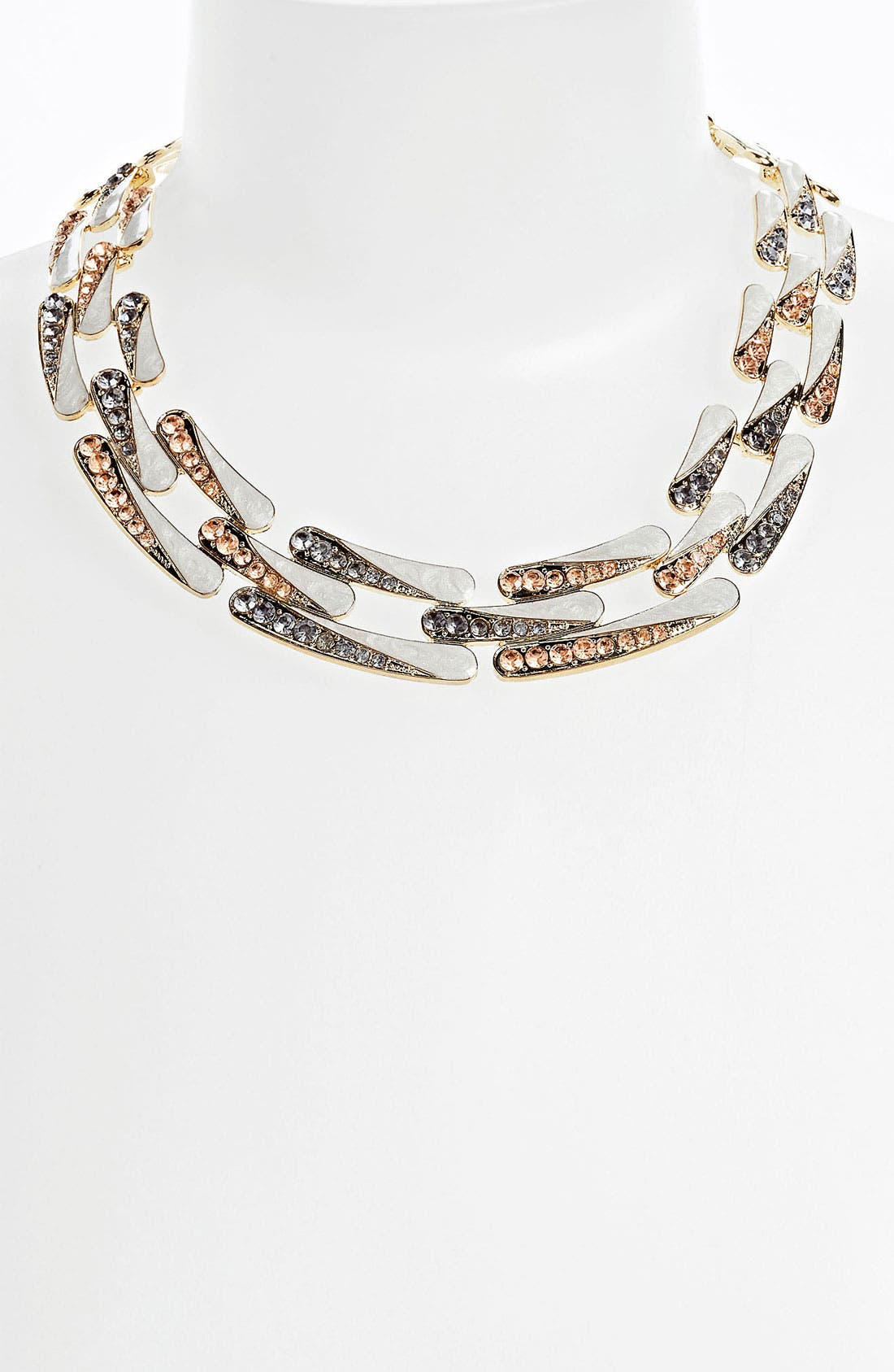 Alternate Image 1 Selected - Statements by DCK Rhinestone & Enamel Link Collar Necklace