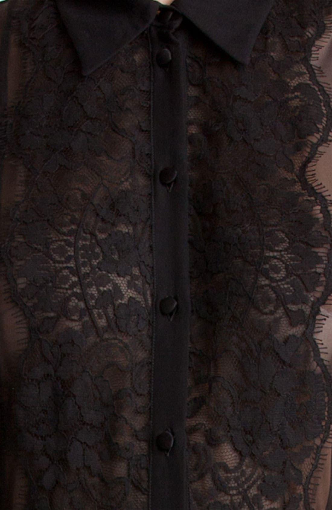 Alternate Image 3  - Dolce&Gabbana Sheer Chiffon Blouse