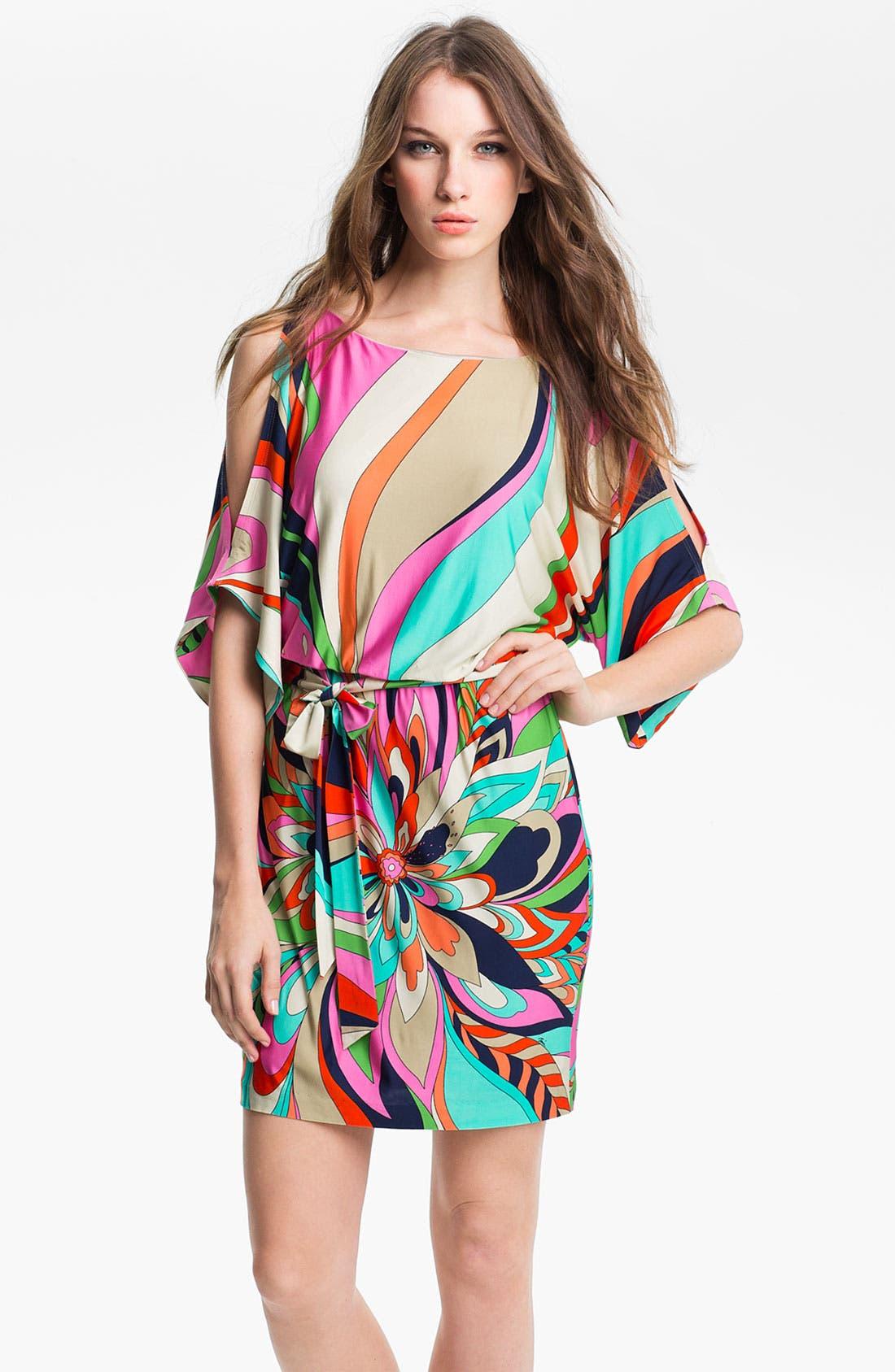 Alternate Image 1 Selected - Trina Turk 'Berenice' Print Split Sleeve Jersey Dress
