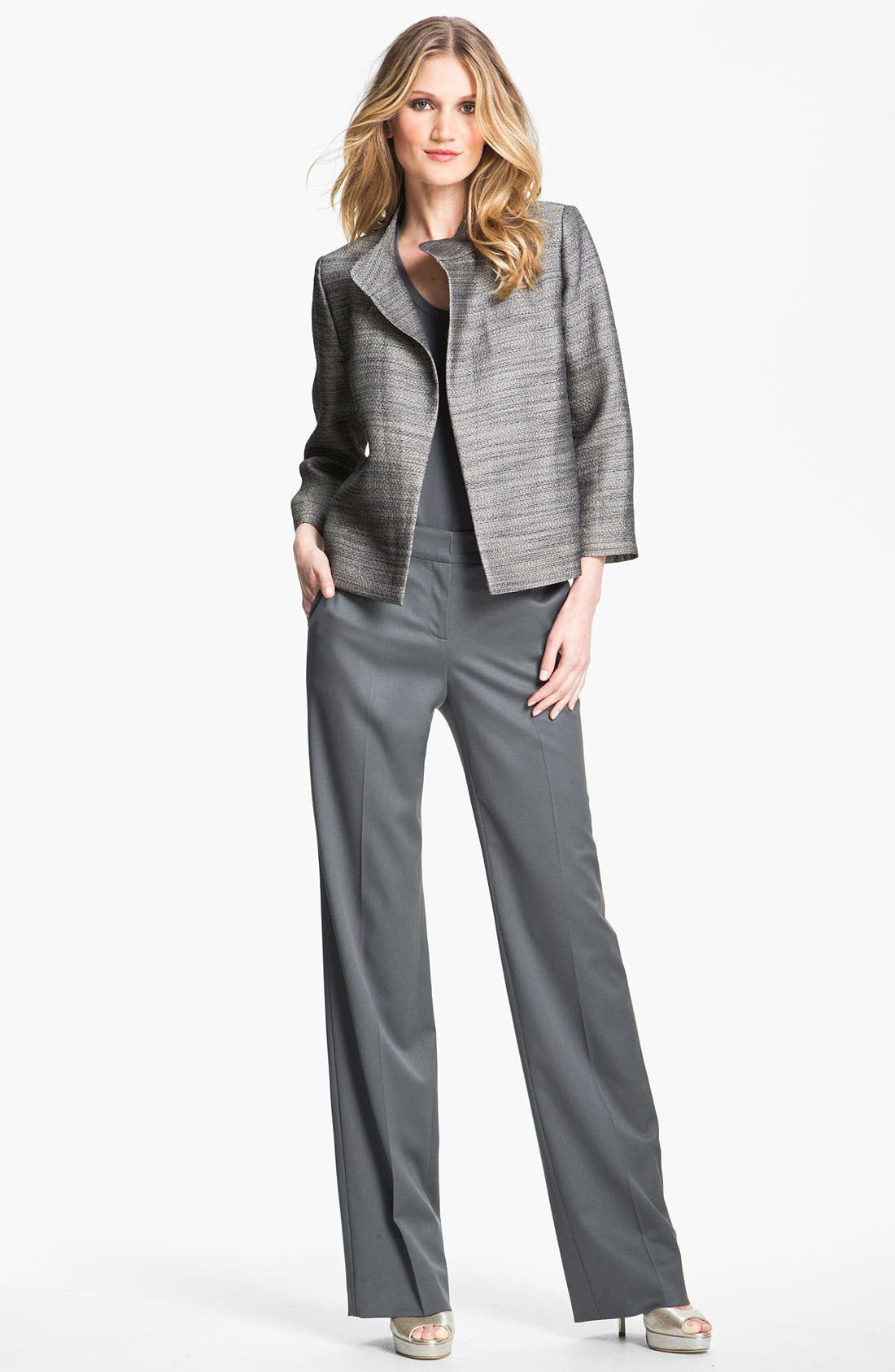 Alternate Image 1 Selected - St. John Collection Venetian Wool Pants