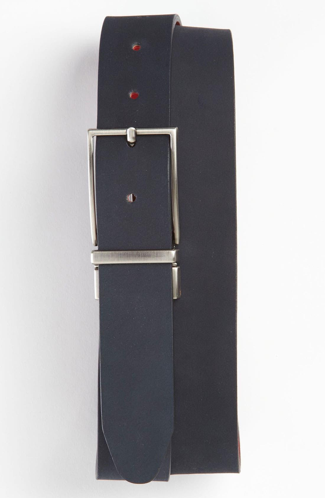 Alternate Image 1 Selected - 1901 Reversible Nubuck Leather Belt