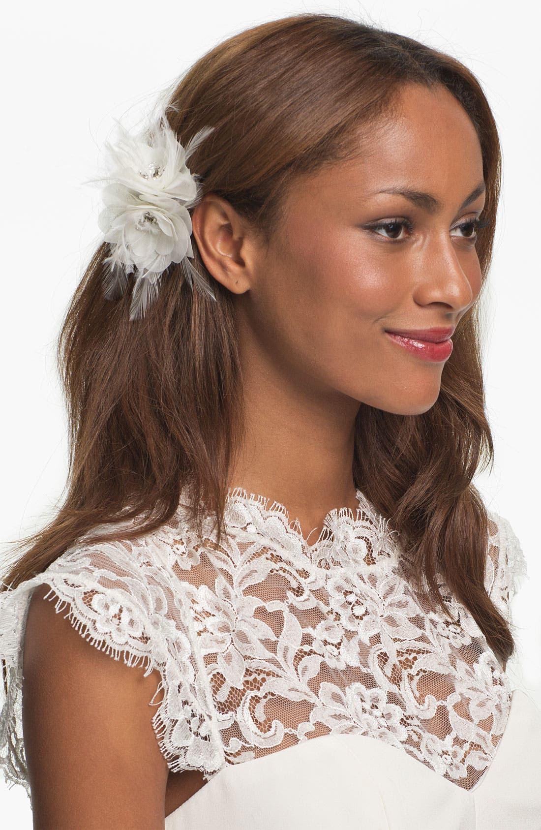 Alternate Image 1 Selected - Nina 'Elle' Flower Hair Clip