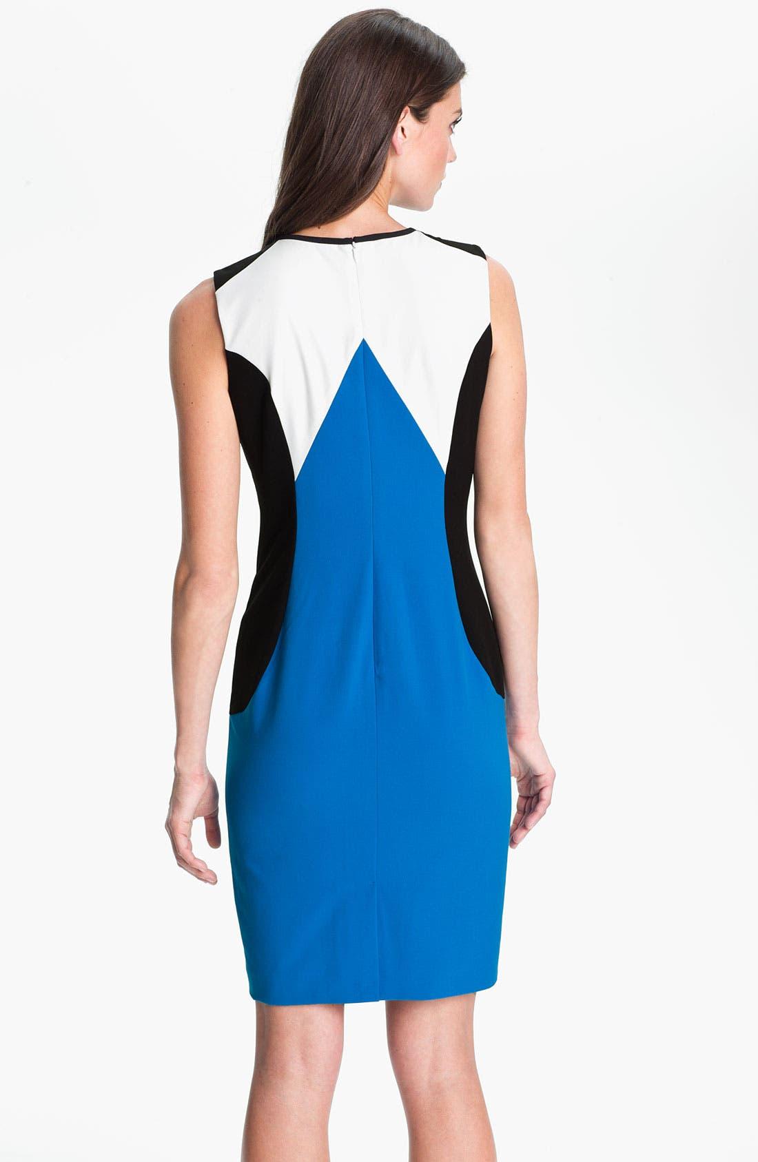 Alternate Image 2  - Calvin Klein Colorblock Crew Neck Sheath Dress