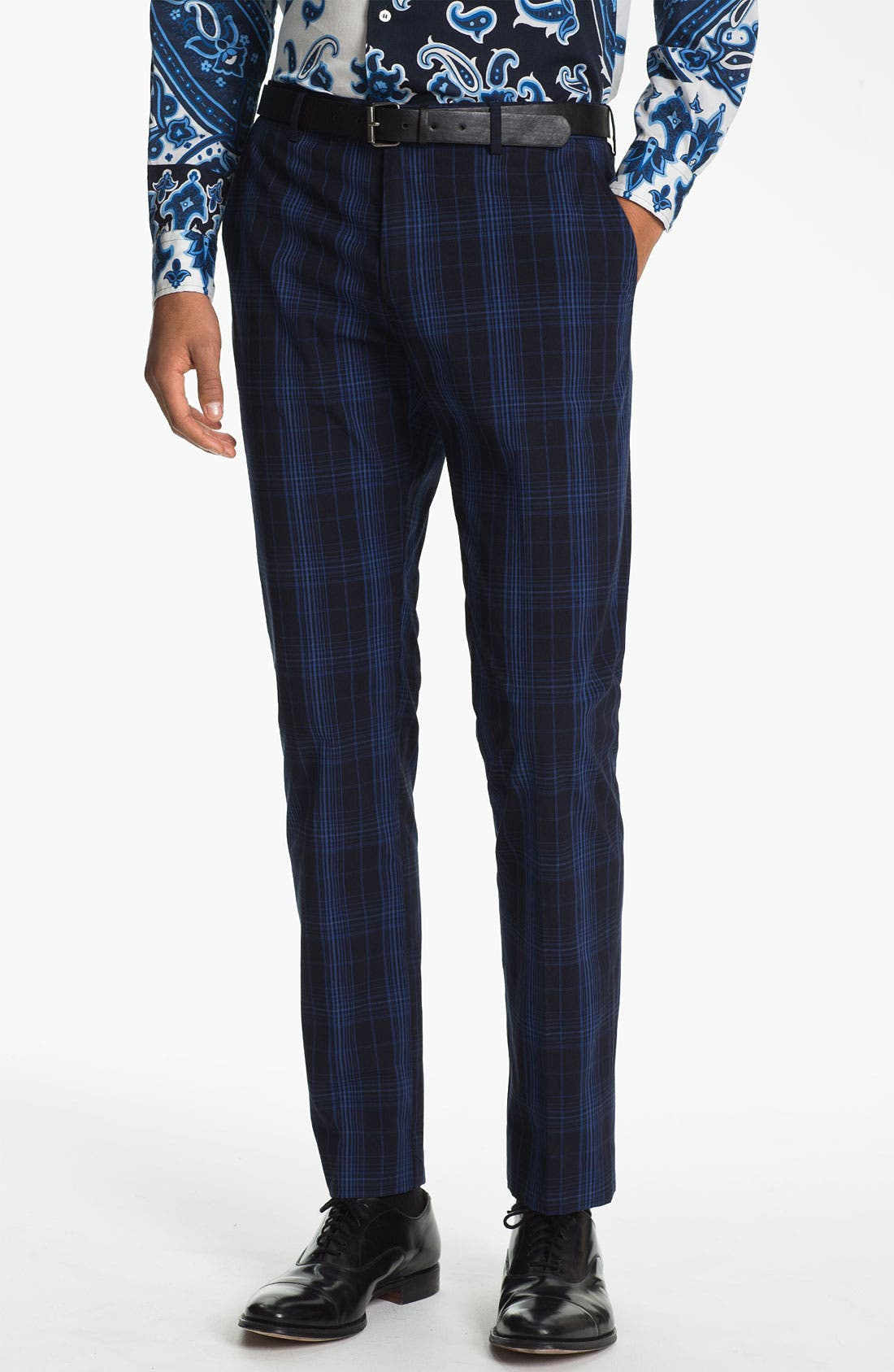 Main Image - Etro 'Mexico' Slim Fit Plaid Trousers