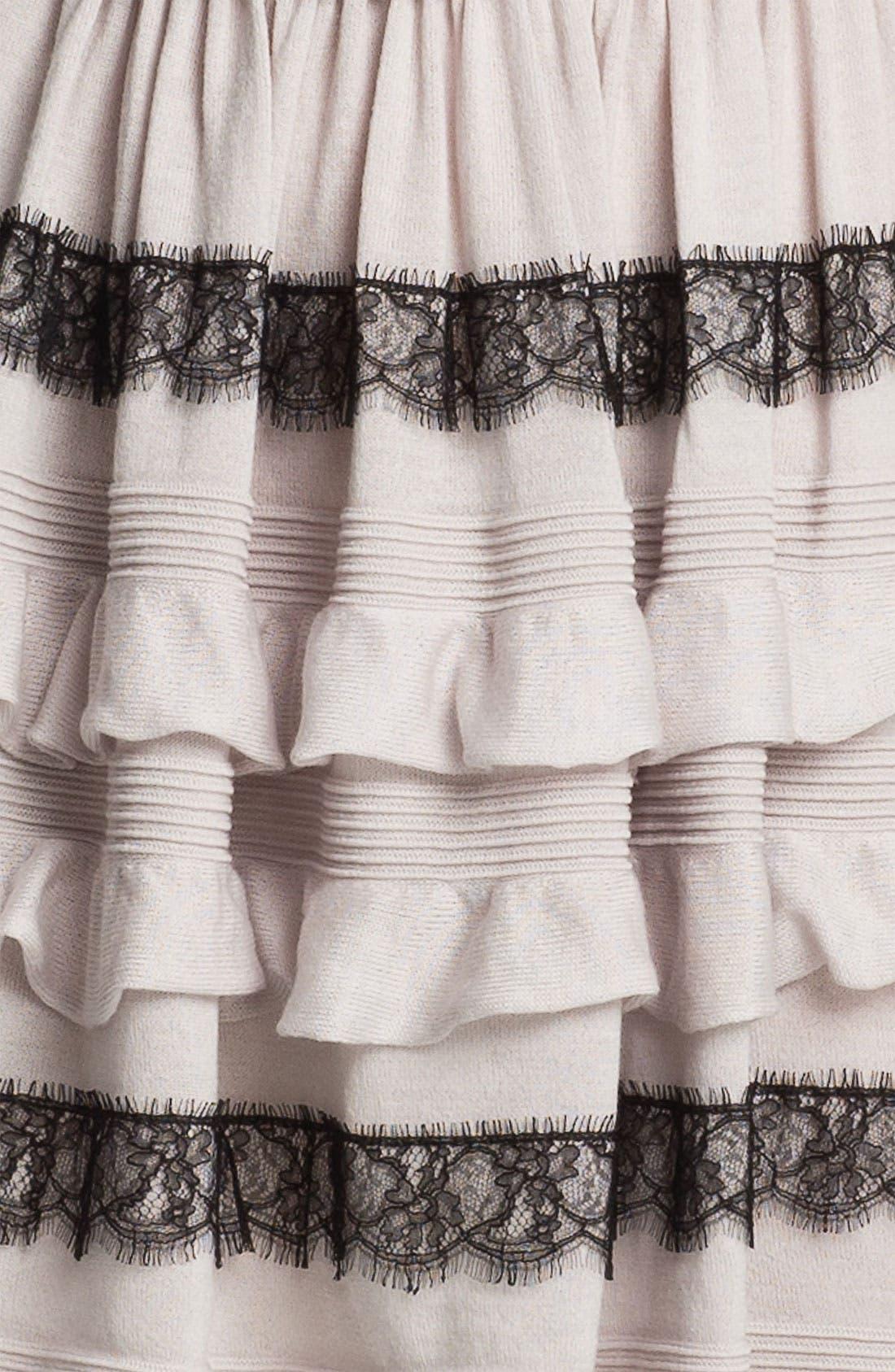 Alternate Image 3  - RED Valentino Ruffle & Lace Knit Dress