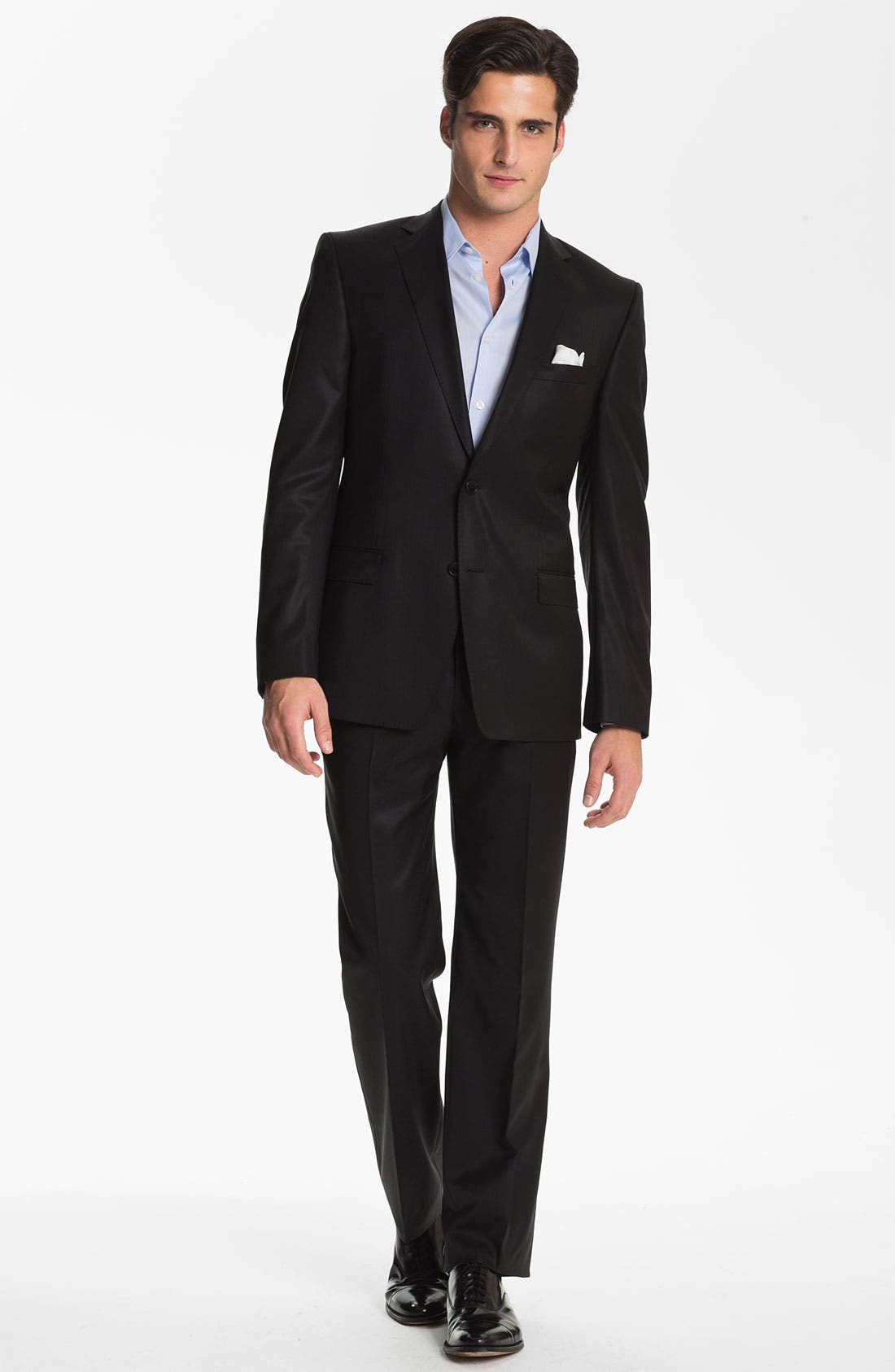 Main Image - Versace Trim Fit Wool Suit (Online Only)