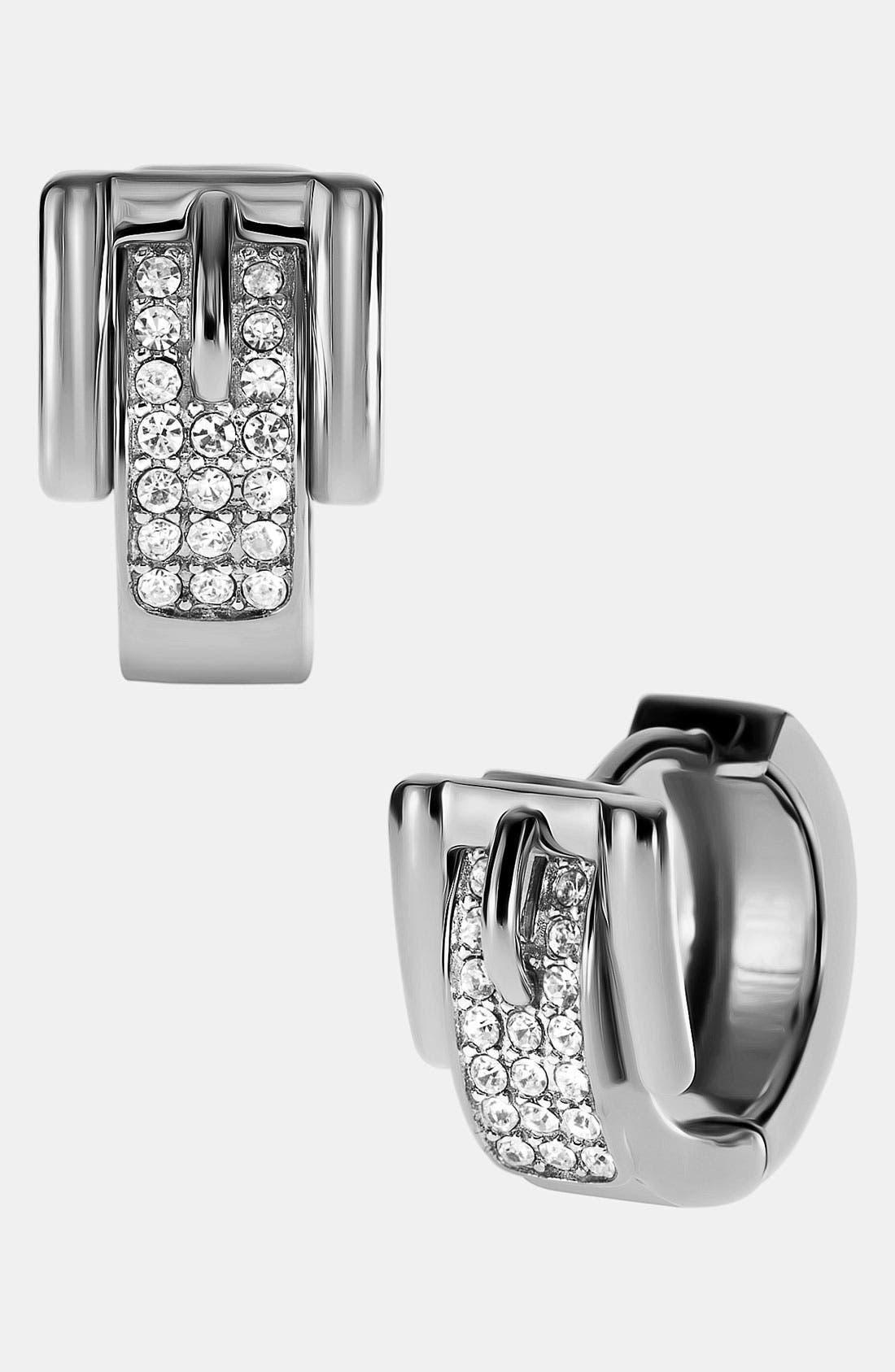 Main Image - Michael Kors Buckle Hoop Earrings