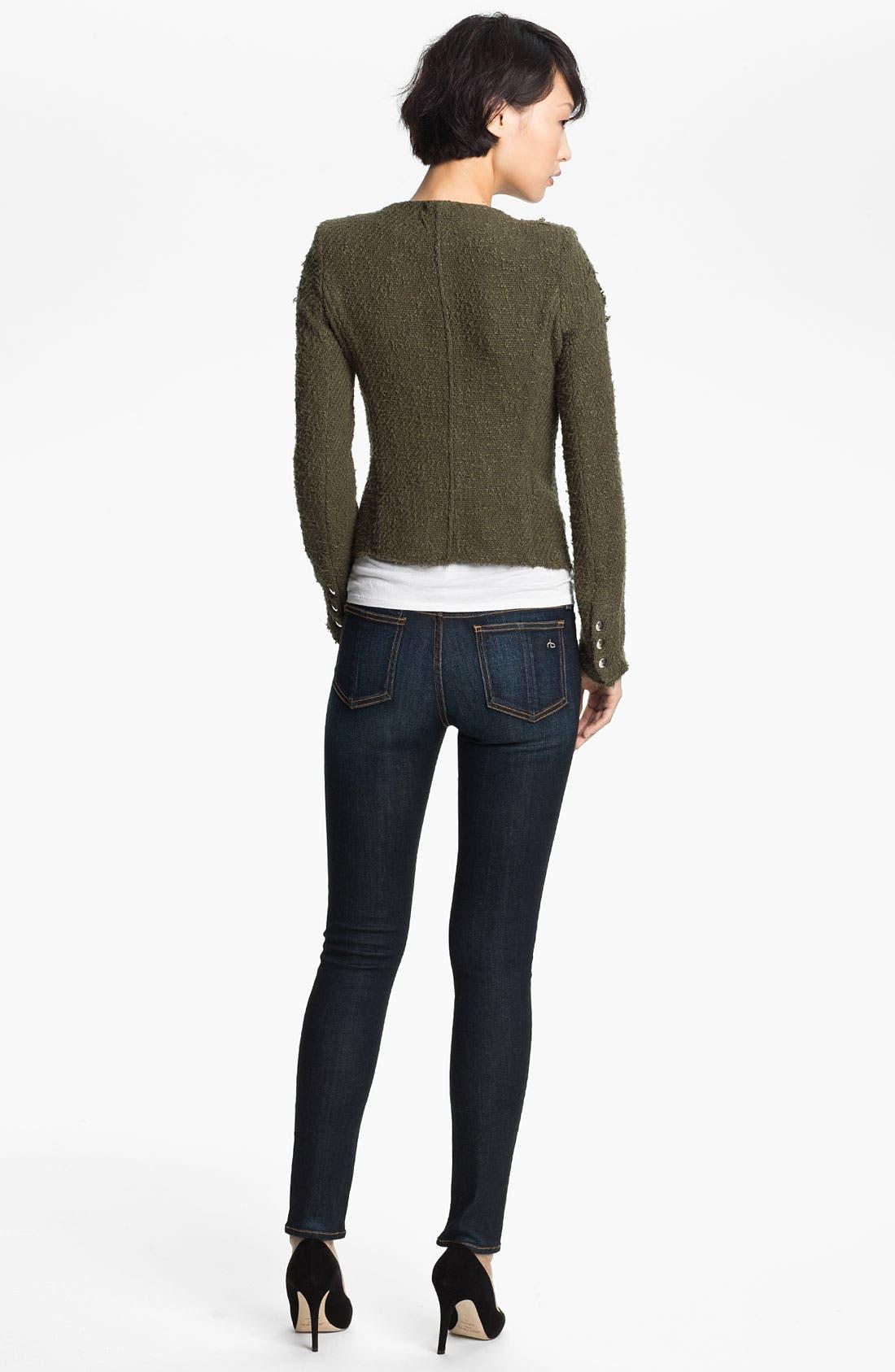 Alternate Image 2  - IRO 'Regan' Distressed Woven Sweater Jacket