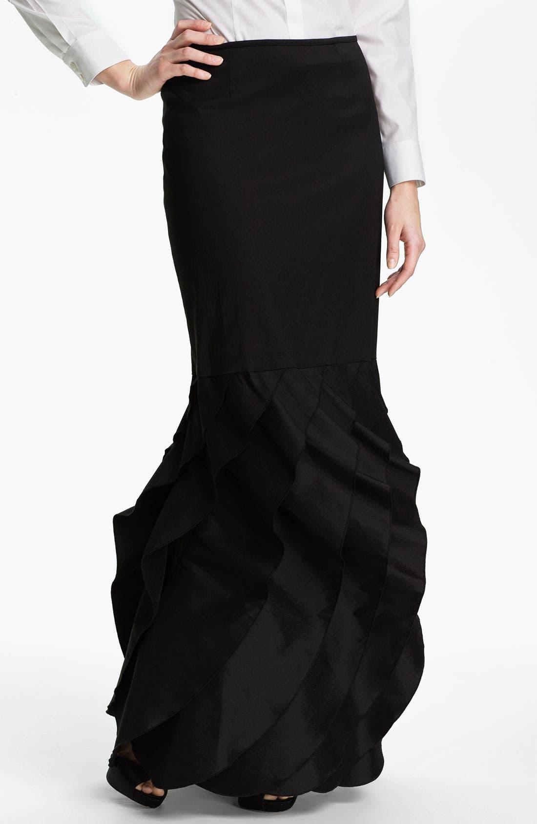 Alternate Image 1 Selected - Tadashi Shoji Tier Hem Taffeta Skirt