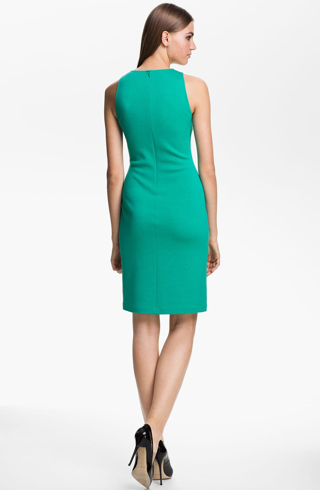 Alternate Image 2  - St. John Collection Bead Embroidered Milano Knit Dress