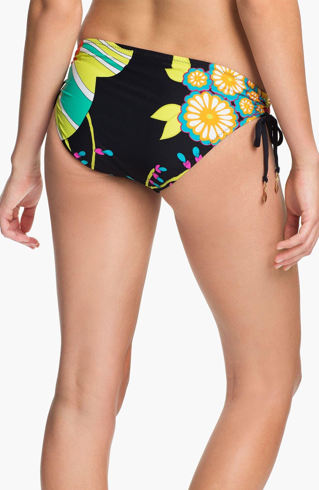 Alternate Image 2  - Trina Turk Shirred Side Hipster Bikini Bottoms