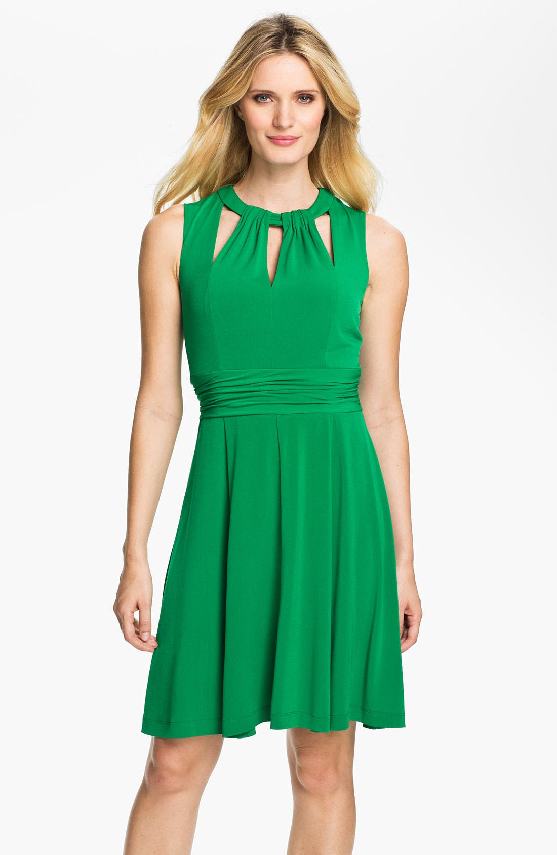 Alternate Image 1 Selected - Donna Ricco Cutout Detail Jersey Fit & Flare Dress