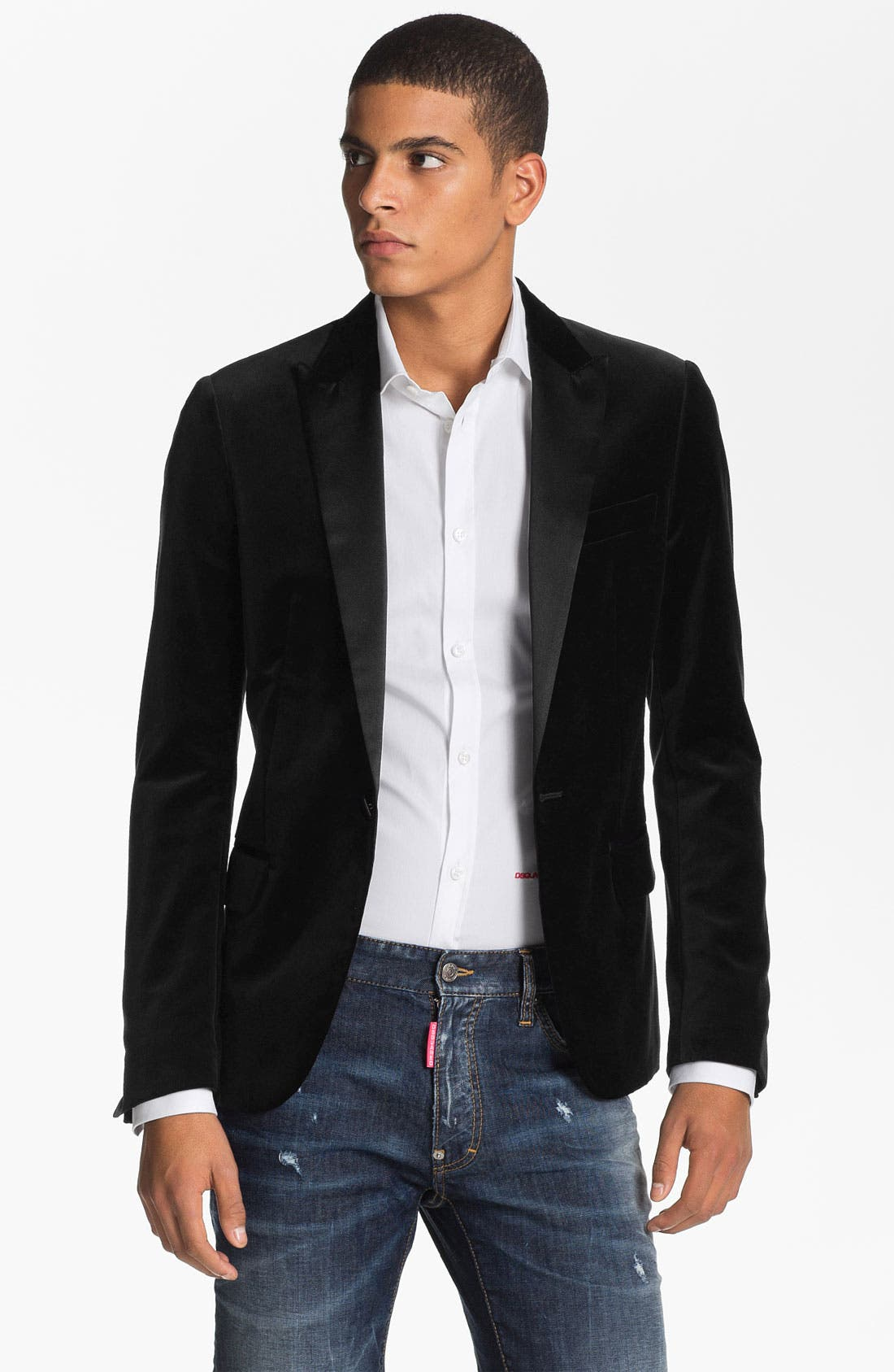 Alternate Image 1 Selected - Dsquared2 One Button Tuxedo Jacket