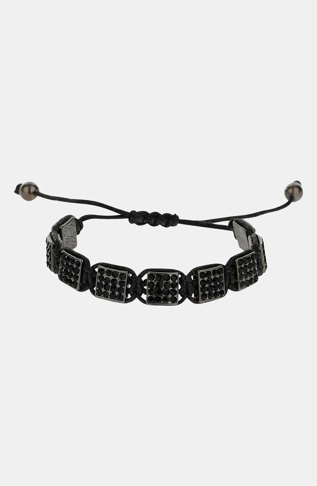 Alternate Image 1 Selected - Topman Rhinestone Adjustable Bracelet