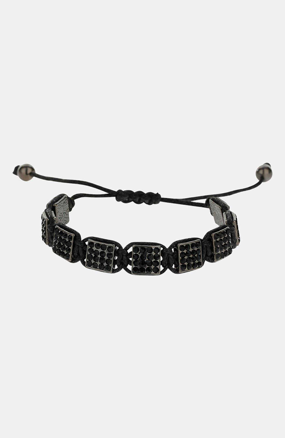 Main Image - Topman Rhinestone Adjustable Bracelet